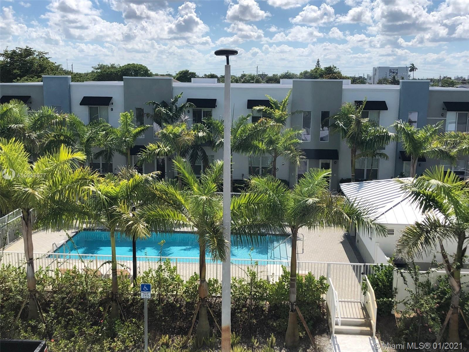 For individuals or for investors. Buy 1 unit or buy the whole building, 6 units. Best building in Urban Village, located right in front of the swimming pool. Newer townhome (built in 2017) in the middle of Oakland Park Culinary and Arts District. Modern contemporary design. 9 foot ceiling, stainless steel appliances, Washer/dryer in unit. Ceramic and wood floors, 1,225 square feet under air, 2 master bedrooms, 2.5 baths, 2 cars garage. Pets welcome, private dog/pet park. No RV/Truck, no boat or trailers. Use of garage mandatory. 24 hours notice to show appreciated. See Brokers Remarks