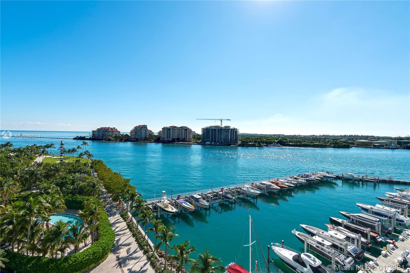 Watch the cruise ships pass by and enjoy magnificent sunrise & sunset views from the oversize terraces of this desirable 02 line at the Murano Portofino. Contemporary-chic residence boasts a spacious open floor plan with 3 bedrooms and 3 ensuite bathrooms, marble floors, private elevator foyer and a gourmet kitchen with Subzero and Miele appliances. Floor-to-ceiling impact windows allow plenty of natural light and panoramic views of Ocean, Fisher Island and Miami Skyline from every room. Murano is perfectly located next to the Marina ensuring boat aficionados and beach lovers the ultimate lifestyle. Five star amenities include 24 hour valet and security, concierge services, 2 tennis courts, 2 pools, state of the art Gym and Spa, private beach club and much more