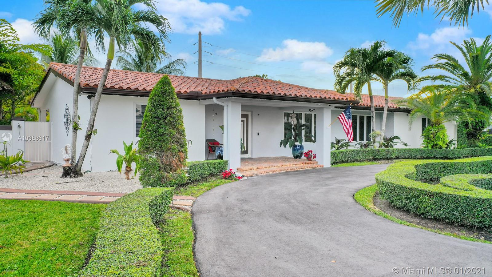 STUNNING AND IMPRESSIVE ONE OF A KIND PROPERTY IN THE HEART OF MIAMI BAPTIST HOSPITAL AREA, CLOSE TO DADELAND MALL, EXPRESSWAY AND US1. COME SEE THIS MARVELOUS HOME WITH NO ASSOCIATION SITTING ON AN ALMOST 17,000 S/F LOT WITH 2,779 S/F OF LIVING METICULOUSLY MAINTAINED AREA AND 706 S/F OF NON-LIVING AREA (2 TERRACES, 1 PORCH AND A GAZZEBO LOADED WITH BAR/COOKING AREA & FULL FRENCH REFRIGERATOR. THIS INVITING HOME IS PERFECT FOR FAMILY ENTERTAINMENT. IT BOASTS 4 BEDROOMS 2 BATHS AND A 2 CAR GARAGE CONVERTED INTO LIVING QUATERS OR COULD BE A GREAT SOURCE OF INCOME. HOME HAS BEEN TASTEFULLY UPGRADED W IMPACT DOORS/WINDOWS, GRANITE COUNTER, SS APPLIANCES, WOODEN CABINETRY, BAR AREA, LAUNDRY ROOM, DESIGNERS WINDOW TREATMENTS, FRESHLY PAINT IN & OUT, POOL/JACUZZI, CIRCULAR DRIVEWAY & NEW GATES.