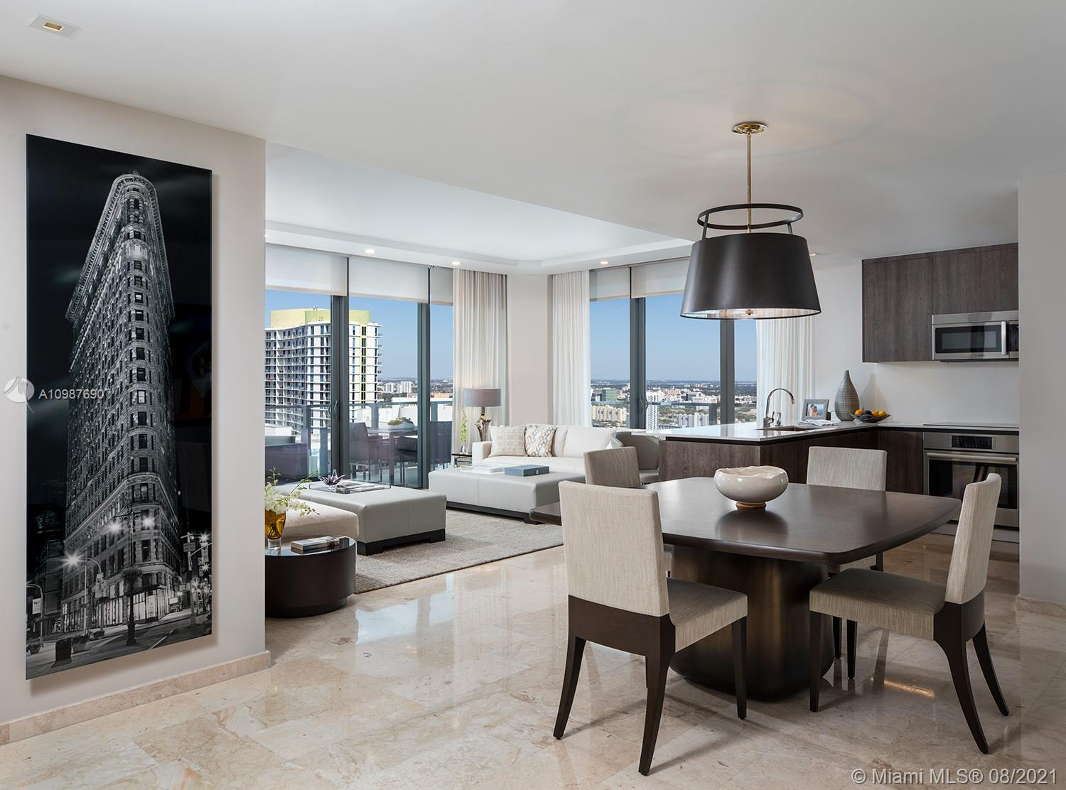 A modern and stylish three-bedroom residence in Rise Brickell City Centre, designed by the internationally acclaimed Arquitectonica. The interiors were designed by renowned Richardson Sadeki and feature floor-to-ceiling windows, meticulously crafted interiors, a modern kitchen with premium appliances, a terrace with glass and aluminum railings and simply breathtaking views of the Brickell skyline. Resort-like amenities include a spacious, state-of-the-art fitness center, tropical garden, barbecue grills, library, children's play area, a heated social pool with spa, on-premises concierge and assigned parking for all units in a secured garage. Vibrant urban style living conveniently located with an exclusive shopping center, restaurants, and entertainment moments away.