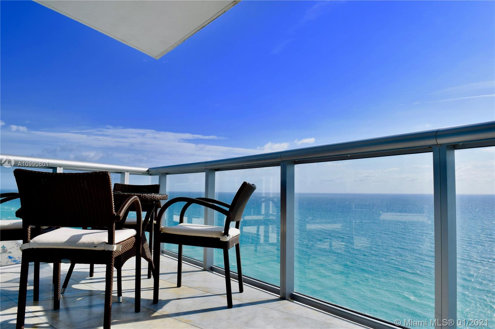Stunning 3 Bedroom and 3 Bathroom apartment at Jade Beach, with direct ocean views and fully furnished, ready to move in. This apartment includes 2 ASSIGNED PARKING SPACES and 3 OVERSIZED DEPOSITS, along with a 100 bottle wine cellar.  The apartment comes with subzero appliances, and state of the art kitchen, floor-to-ceiling impact windows and the most amazing Ocean Views!