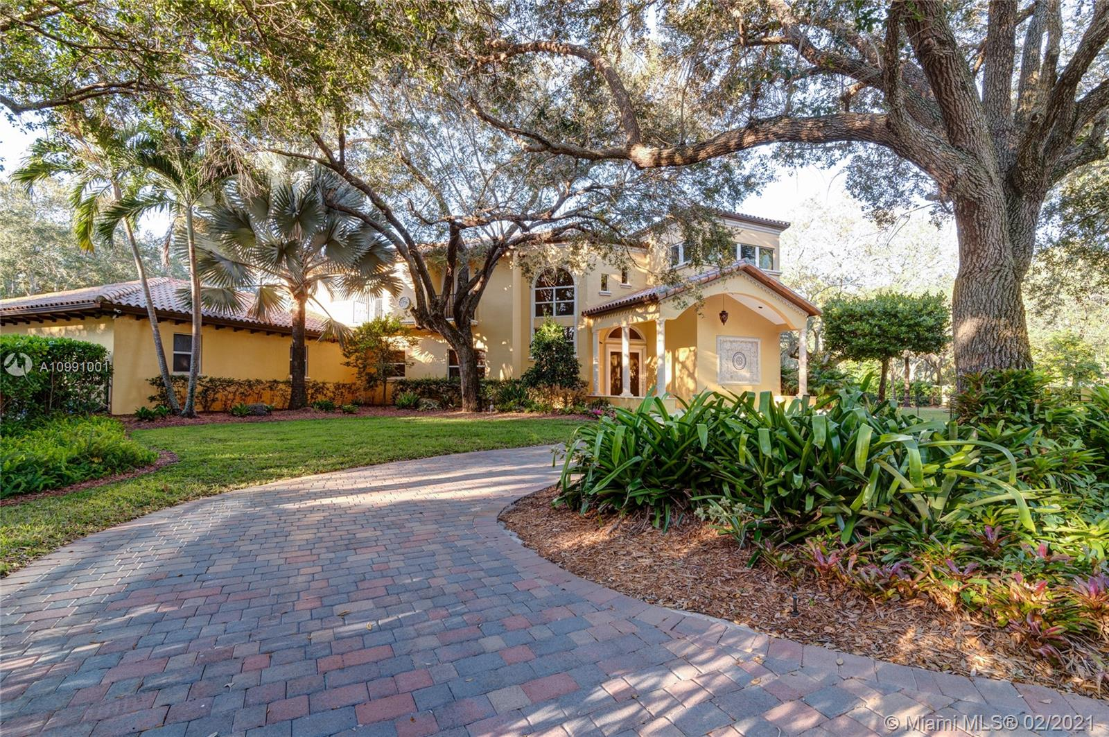 1st time ever on the market custom built N Palmetto Bay home. Meticulously maintained on a lush landscaped corner acre, impact windows and doors, 8 foot doors and 10 foot ceilings with custom crown molding and baseboards, large master suite with tray ceilings, multiple home office options, custom cabinetry with granite tops thru out, heated pool with jacuzzi spa, gated entries and fenced in yard, central vacuum system, 1st and 2nd floor laundry rooms, golf putting and chipping green, brick paver driveway, security camera system, large patio with covered entertaining area.  North Palmetto Bay neighborhood and close to outstanding schools!