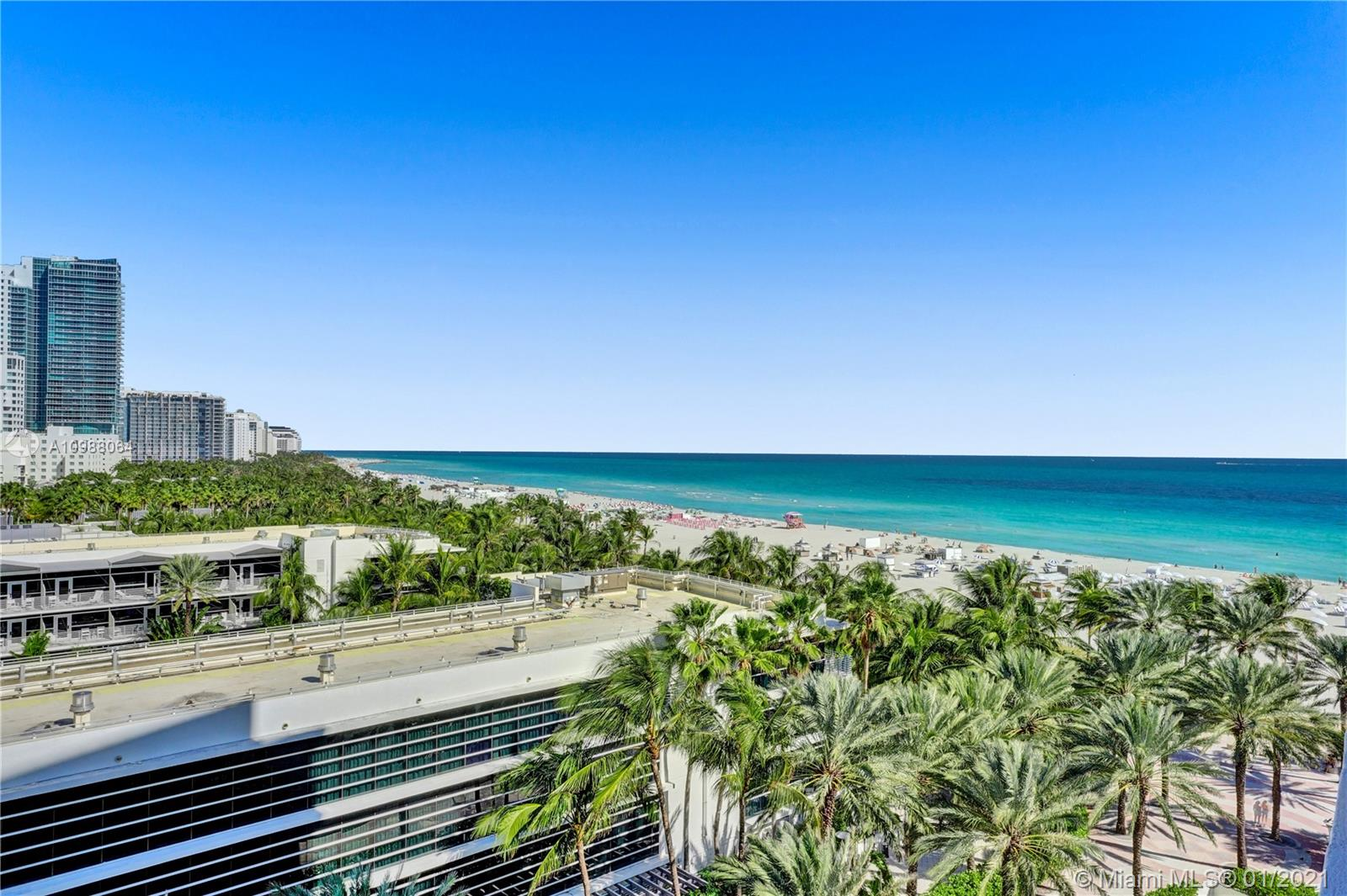 Exclusive South Beach address perfectly located where the ocean meets famous Lincoln Road! Oceanfront, 1 br 1 ba with large balcony, ocean & city views, bright & spacious, nice kitchen, washer / dryer in unit, impact windows and balcony door, Pergo flooring throughout and Marble floor in bathroom and tub/ shower, plenty of closet space, offered furnished. 1 parking and 1 valet. Private access to beach, gardens, heated pool. Well equipped building recently renovated. Features include beachfront gym, game room, new elevators, 24hr security, laundry on each floor, valet. Maintenance includes A /C, water, cable and internet. Rentals allowed for 30 days. Walk to hot spots, restaurants, attractions, and museums. Pamper yourself in luxurious style in one of the most beautiful places in the world.
