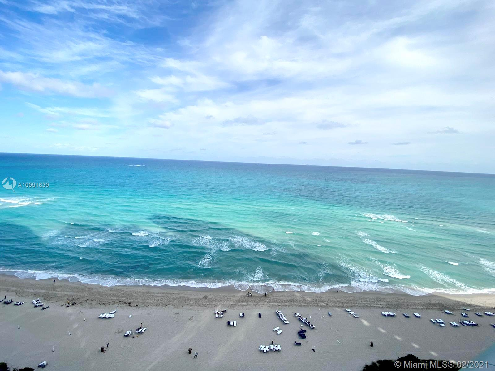 STUNNING DIRECT OCEAN VIEW UNIT, 1 BEDROOM 2 FULL BATHROOMS, TOP OF THE LINE APPLIANCES, LOCATED AT JADE OCEAN IN SUNNY ISLES, ENJOY THIS AMAZING VIEW, BUILDING OFFER 5 STAR AMENITIES, TWO SWIMMING POOLS, RESTAURANT, LUXURY LOBBY, AND MORE.