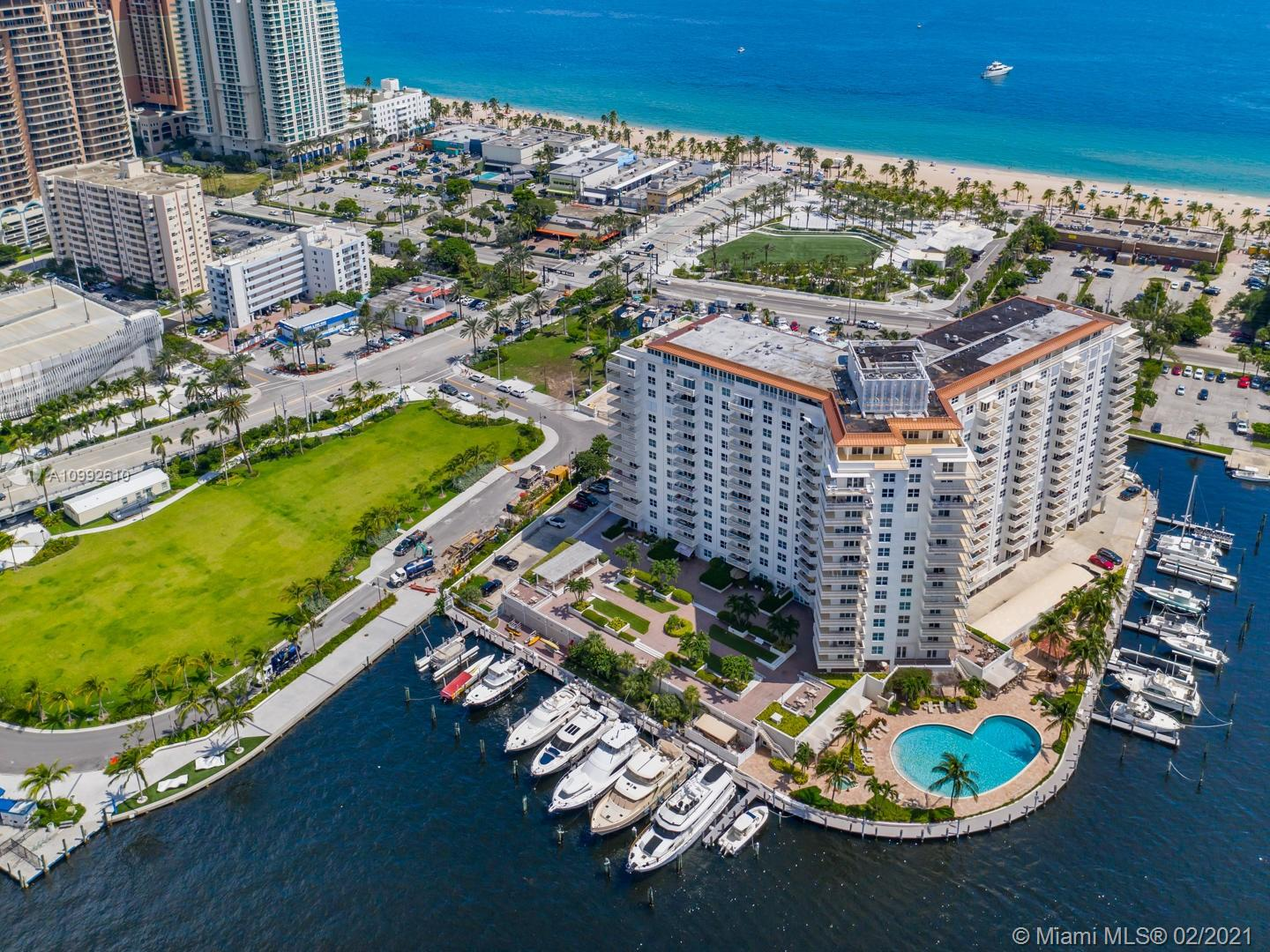 The Venetian has it all. This spectacular spacious 2/2 condo has views of the Ocean, Intercoastal, yachts galore, both the Las Olas Bridge & the 17th St. Bridge, Downtown Las Olas & city lights of downtown FTL. Watch the sunrise on your oceanfront balcony then watch it set on your intercoastal balcony. Beautiful pool situated on the intercoastal w/an outdoor jacuzzi, 7 grills, Tiki Hut w/TVs & Wet Bar. View the annual FTL Boat Show, watch the jets fly over to the Annual Air & Sea Show, watch cruise ships come & go and enjoy the FTL Boat Parade. Boat slip option, library, game room, sauna, gym, an event room w/full kitchen, workshop w/machinery, covered parking & sprinkler system. Unit is completely renovated, SS appliances, interior doors, hurricane windows, crown molding & storage.