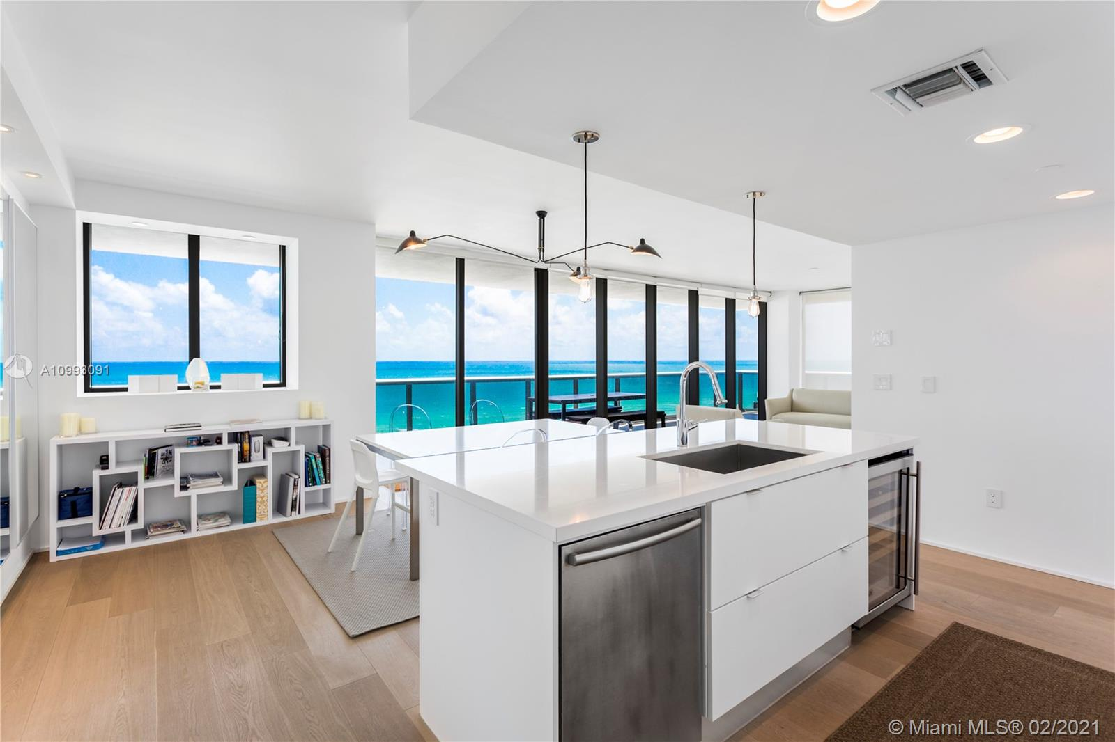 This renovated 3 bed/3.5 bath corner unit offers floor-to-ceiling glass, a flow through floor plan, and sleek, white interior. Sought after '02 line has direct ocean and downtown Miami skyline views from its oversized wrap around terrace, perfect for watching sunrises and sunsets. The Asian influenced boutique style, luxury building on Miami Beach's Millionaire's Row provides sophistication, tranquility, and a modern feel. Its amenities include spa, gym, 3 swimming pools, yoga room, Zen library, full beach service, valet, and concierge. Unit #1101 for sale next door provides the unique opportunity to combine 2 oceanfront, corners units to create a custom 3,050 SF residence. ASSESSMENT PAID IN FULL!