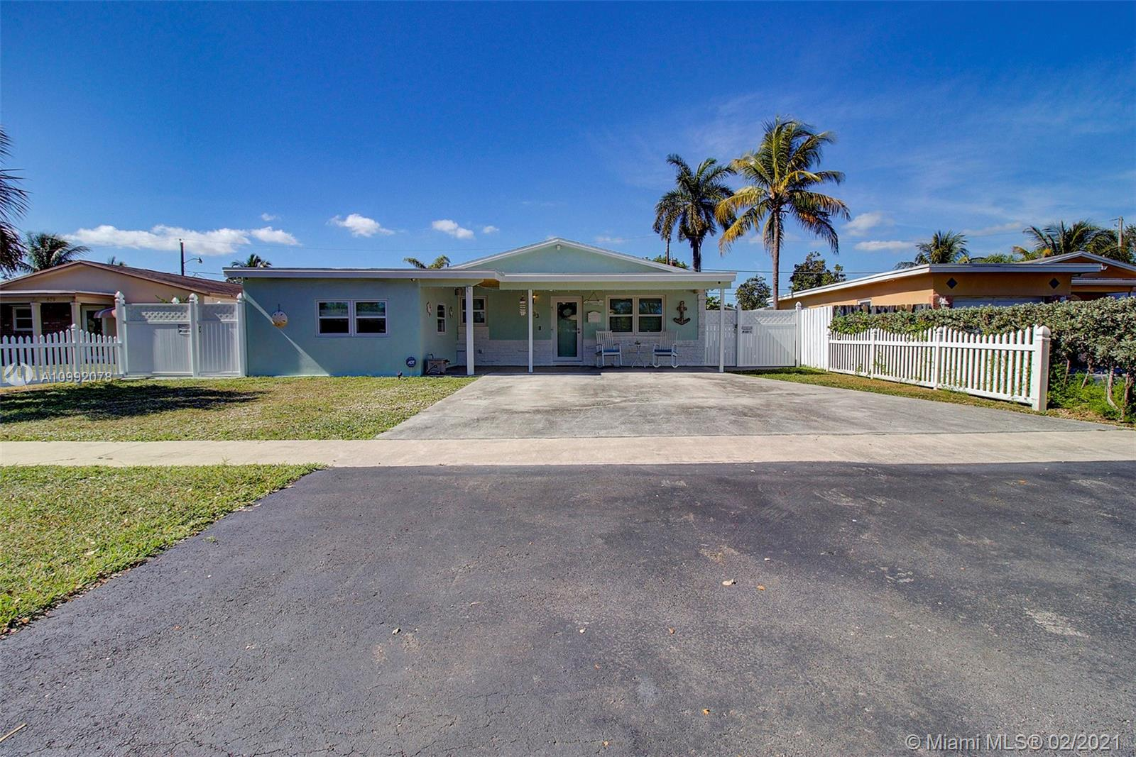 Completely remodeled 3 bed / 2 bath single family home with an in-ground pool in Melaleuca Gardens, Dania Beach. The home features a large covered front porch and a covered terrace in the backyard. New roof in 2020. Remodeled kitchen with stainless steel appliances. Remodeled master bathroom and a luxurious master closet was added as well.  The home comes with a 360 degree video security system and features 3-ply PGT hurricane impact windows and doors. Reinforced ceiling and windows makes the home completely sound-proof to outside noise. There is also ample space on either side of the house for recreational vehicles and it includes a 20x10 storage shed. Community features a private boat ramp that leads to the Dania cut canal and a children's park across from the home.