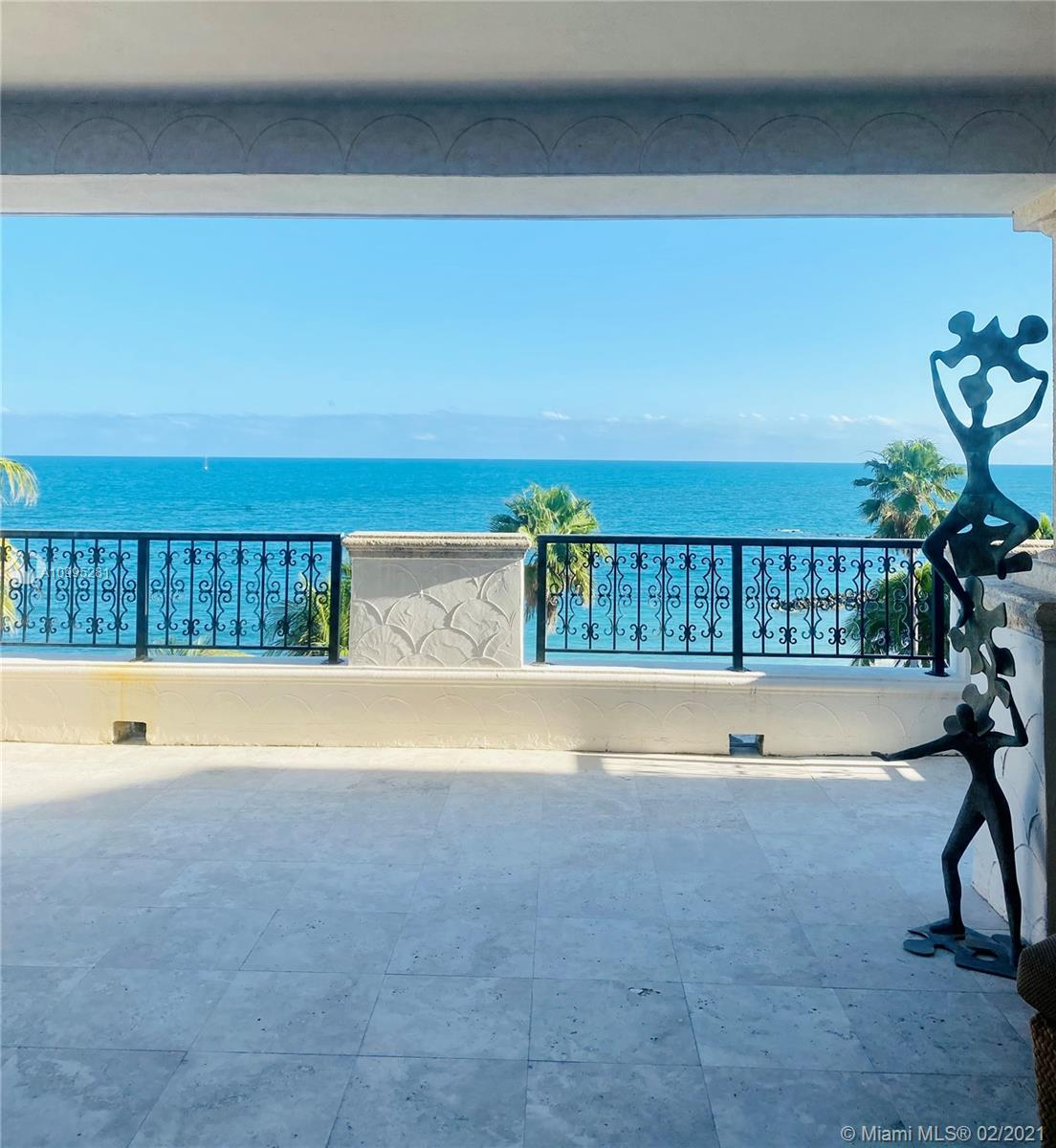 Oceanside Direct 2 bedroom/2.5 baths bright and airy. Private elevator entry to a private foyer. Extra wide larger size terrace overlooking the pool and another terrace with views of the Miami Skyline. Custom bar. Two storage units. No membership required. Early summer closing date required.