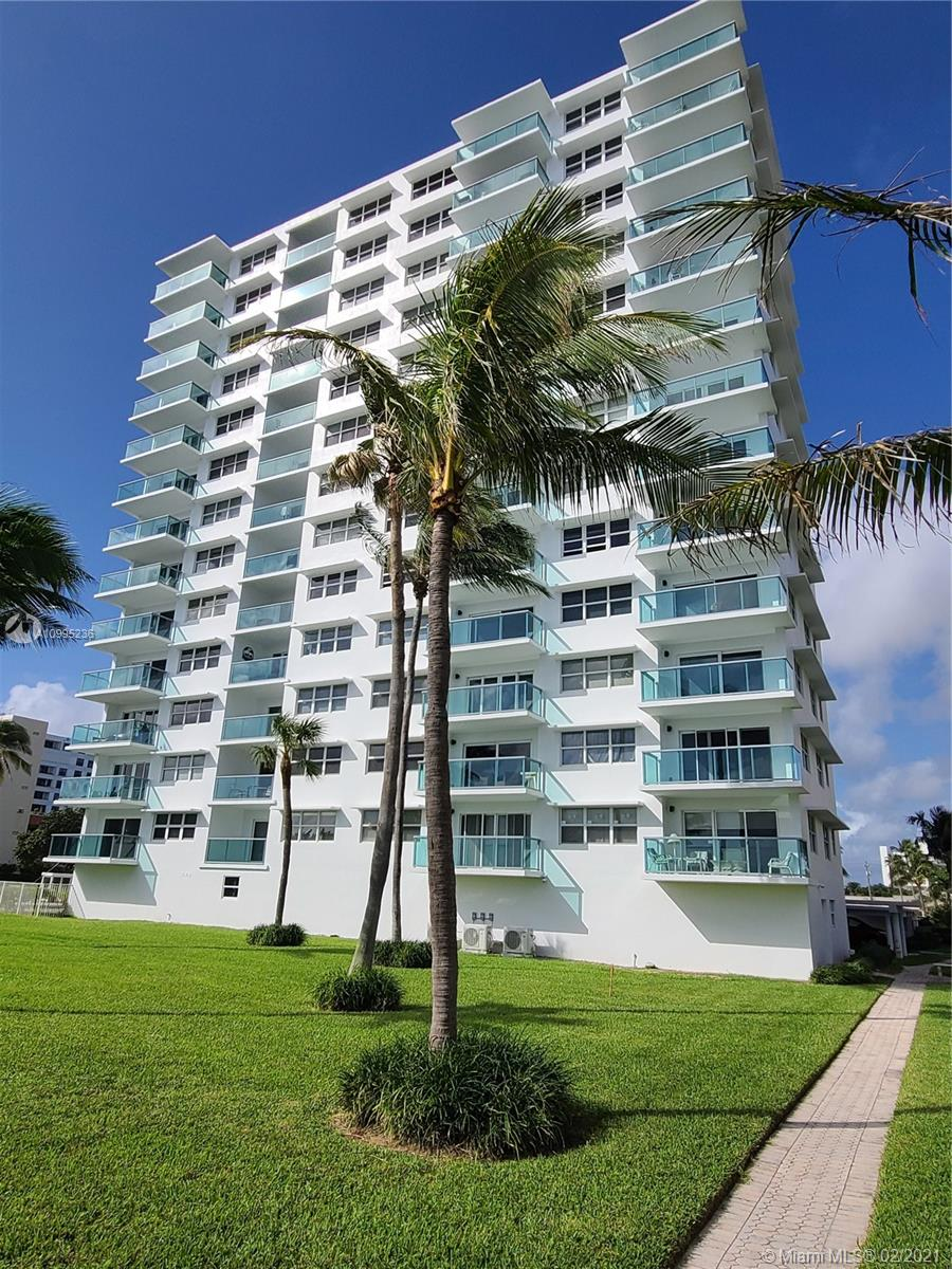 """Run, dont walk for this Gorgeously modernized 2/2 corner unit with a breathtaking unobstructed direct ocean view. This home was updated and remodeled only 2 years ago including new kitchen and bathrooms, 24"""" porcelain tile floors throughout, quartz countertops, sills, and vanities, stainless steel appliances, crown molding, impact glass windows and sliders, new AC, new lighting features, new interior doors, newly furnished..and more. Sold turn-key with furniture included and only the personal items excluded. New impact glass balconies (already paid for)."""