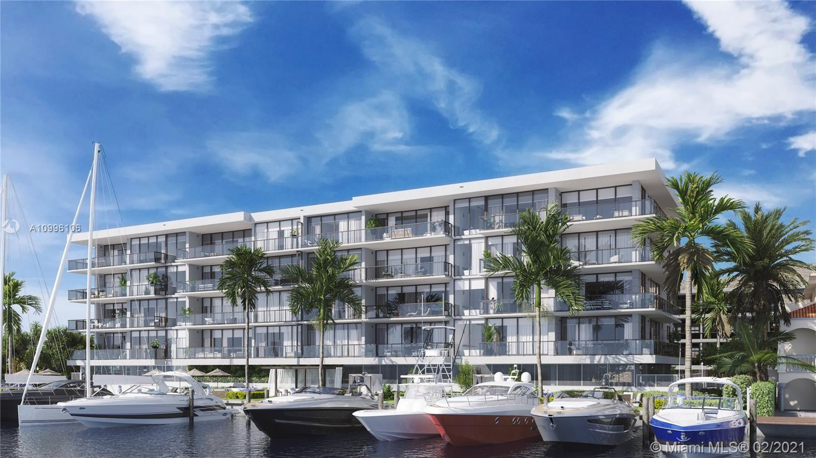 160 Marina Bay - Fort Lauderdale's most exclusive, ultra-luxurious boutique building. 5-stories & 16 striking three bedroom finished residences w/ over 3,300 Total SF including expansive waterfront terraces. Centrally located within walking distance of Las Olas Blvd & the beach: the perfect blend of Beach & City! 10' ceilings, private elevator lobby to each residence, Italian cabinetry w/ high-end appliances, built-in bar in dining room, SMART HOME: control lights, front door, shades & even master shower by voice control! Private Marina w/ 14 boat slips, pool overlooking canal w/ cabana & BBQ area, self-servicing package lockers & more! Strategically located near the east-facing far end of Isle of Venice Dr. for added privacy & stunning waterway views. Slated completion EARLY 2022!