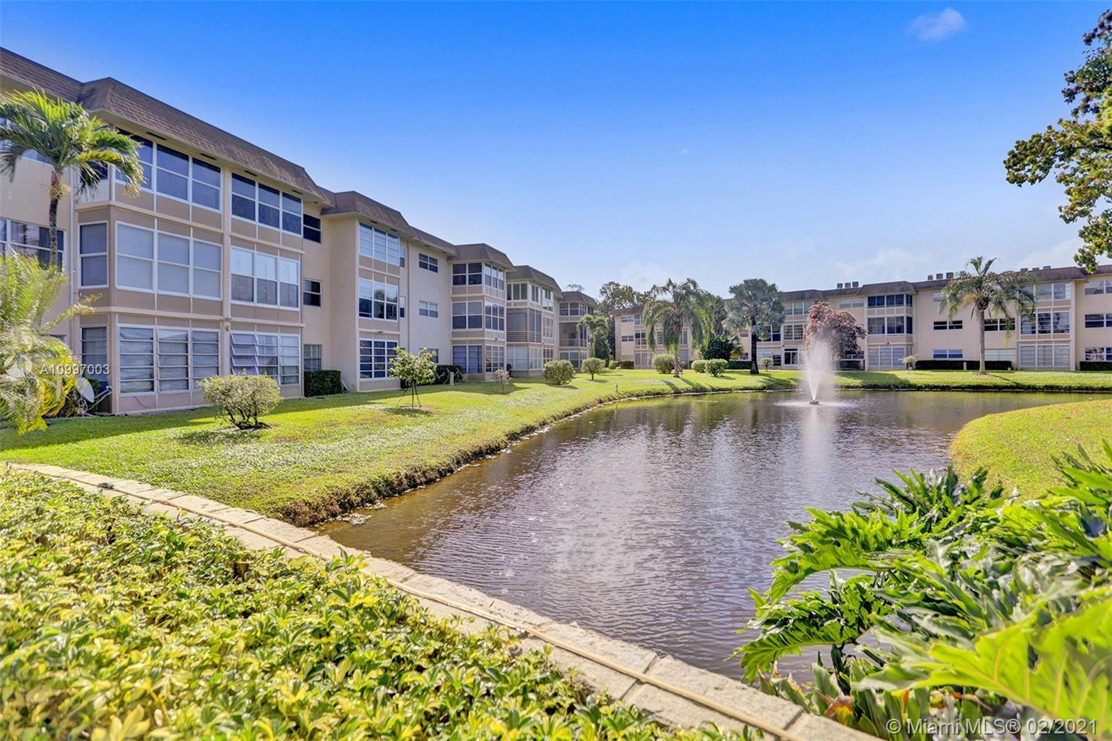 Beautiful corner unit with lake view, fully furnished third  floor. Large Florida room with view on the lake and pool area. internet is included in the maintenance fees. This Hopa community offers pool shuffleboard, community room, laundry room, extra storage, gym. Close to turnpike, grocery store, restaurants.