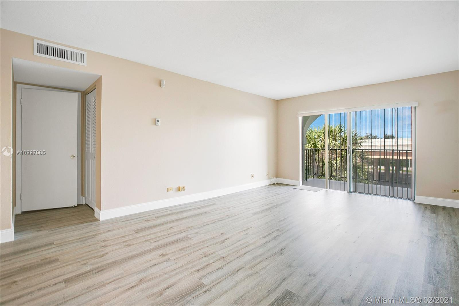 Spacious apartment in a quiet neighborhood of new construction condo buildings. Ideally located close to UM, South Miami, Coral Gables & Pinecrest. Walk to Metrorail and world-class shopping, dining & entertainment at Dadeland Mall. Light-filled, open living spaces w/ large covered balcony. Well maintained-(recently painted + new laminate flooring ), 1BR/1.5BA + 3 walk-in closets. Secure, gated building is currently undergoing renovations and offers a pool, assigned parking & clubhouse room. Additional details: water, cable is included. NO PETS per association by-laws.