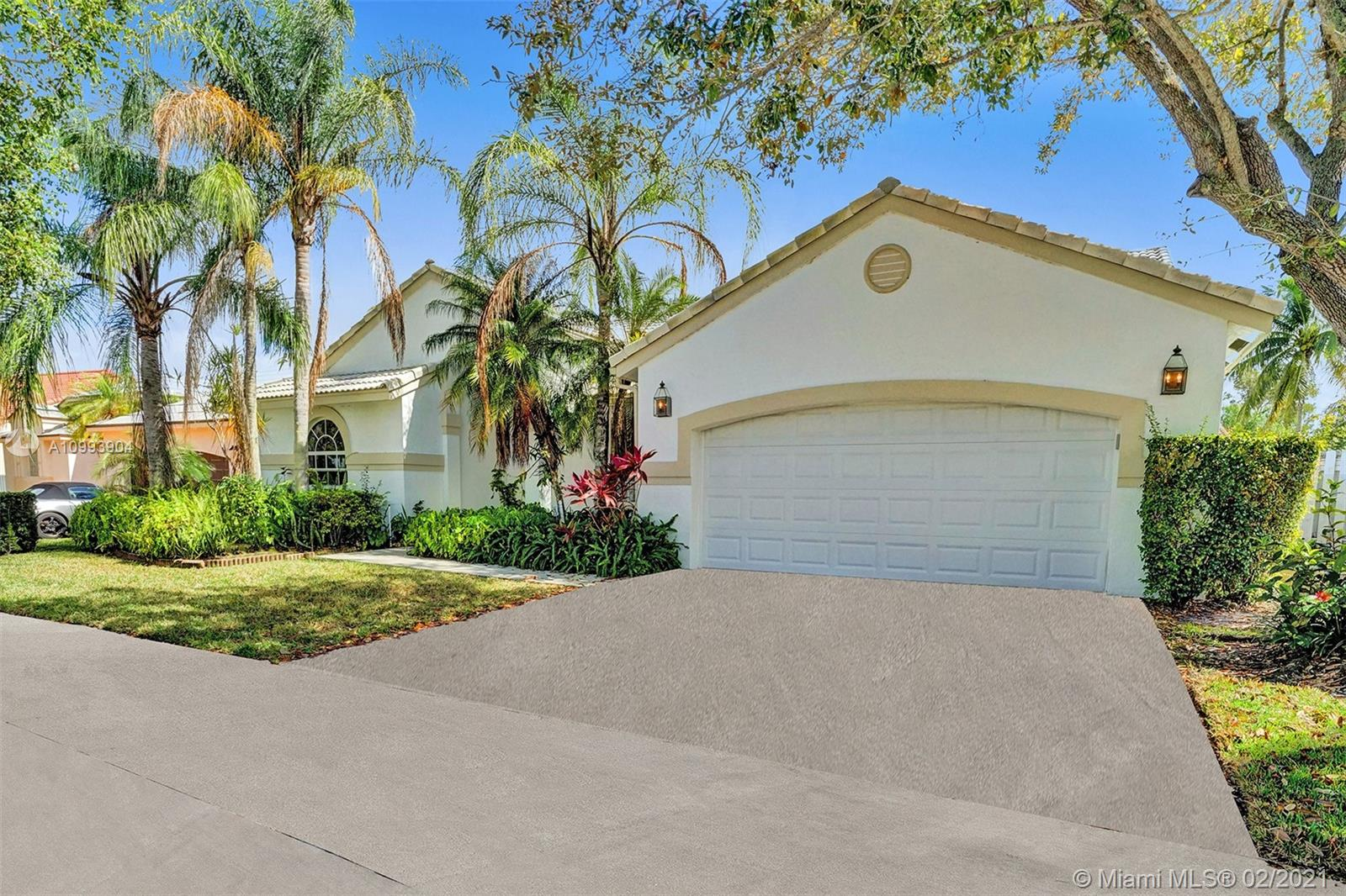 "Short sale subject to 3rd party approval. Streamlined short sale. Great opportunity to live in The Lakes! Home has updated kitchen with stainless steel appliances and granite countertops. Updated  24"" x 24"" tile floors in social areas and wood laminate in all 4 bedrooms. Split bedroom plan. Remodeled master bath and powder room. Huge backyard, fully fenced and room for a pool! Hurricane panels for all openings and impact garage door.  Zoned for great Weston schools including Cypress Bay H.S. Community is guard gated 24/7, has  a community pool & tot lot. Close to highways & shopping. Publix & CVS are a mile away. Roof is original. Home is priced to sell taking this into consideration. Please no low ball offers. SEE ATTACHMENTS FOR SHORT SALE ADDENDUM TO CONTRACT AND TITLE COMPANY INFO."