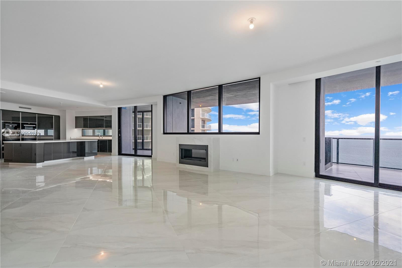 """""""Best Deal in the Best Line"""". Be the First to occupy this Magnificent Luxuriuos unit!. 4bed/3bath+1hbath+plus service room, 4.246 Sf Total area, Beautiful long glass allows you to enjoy the gorgeous front Ocean View, Terrace with Private Pool & summer kitchen, Two robotic Glass Car elevator will transport your vehicle to your Privet Garage in the Sky. Natural light throughout your entire home. Top of the line Appliances, Black Carbon Kitchen Cabinets, 5 Star Amenities Pool & Beach Service, Spa & Fitness, Club Room & Movie Theater, Virtual Gold & Race Car Simulator, Private Restaurant & Wine Room, Lounge/Bar with Fireplace, Concierge & 24 Security. (Appoinments 24 hours before, according to managemente protocol)"""
