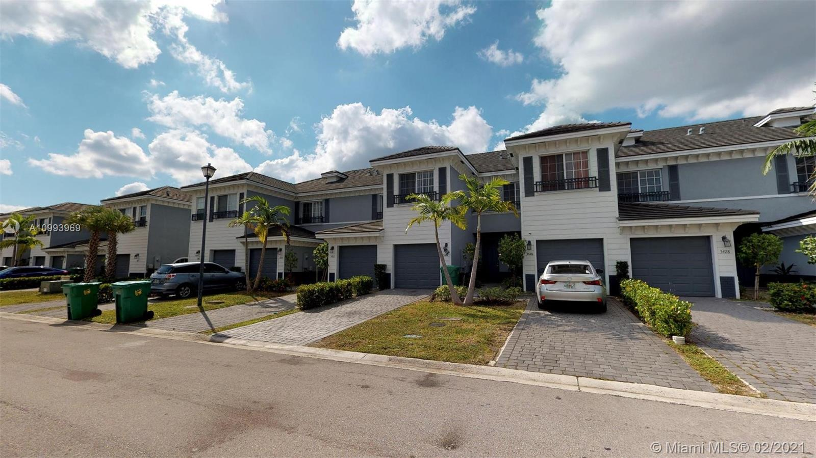 Gorgeous gated community located 20 minutes away from Ft Lauderdale Airport, between the Atlantic Ocean and Sawgrass Mills Mall. Town home with innovative design and high quality finishes. Unit feature Italian designed cabinetry, stainless steel appliances and porcelain marble flooring. Unit is looking over the lake. Community swimming pool and also close to beautiful park with access to tennis courts, cricket pitch, baseball field, basketball court.  rented for $1,770 monthly, lease expire on 07/01/21.