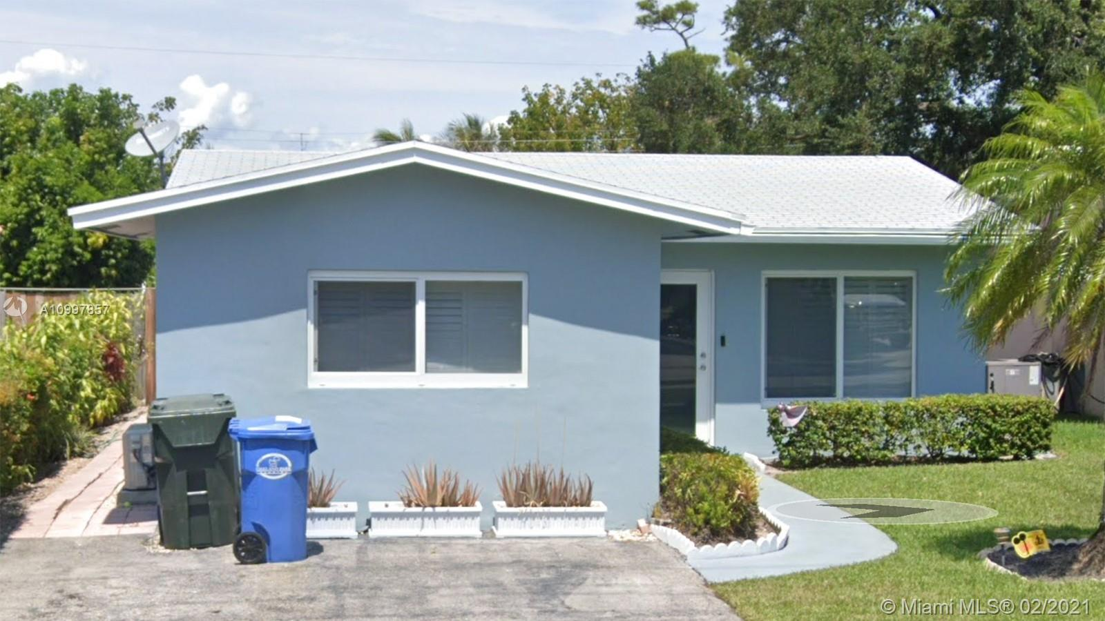 This lovely home with a large pool is located in the heart of Oakland Park & is exemplary of the pride of ownership. Kitchen is updated, bathroom remodeled, has impact windows & doors,r oof 3/yrs old, updated electrical panel, AC/5 yrs, water heater/3 yrs, has $36K updated plumbing/PVC, pool pump/2 yrs. As per BCPA legally a 3/1/1/ but more like a 2/1 with bonus room/den & a poolside cabana bath. 3rd bedroom is like a den, must pass-through it to access master bedroom. 1/2 bath (sink & toilet only) is outside, accessible through pool area only. Integrated thermostat & security cameras included. Blocks away from Downtown Oakland Park & the Culinary District. The beach, shopping, highways, access to Wilton Manors & Ft Lauderdale only 10-15 minutes.Makes a great AirBNB. Furniture negotiable.