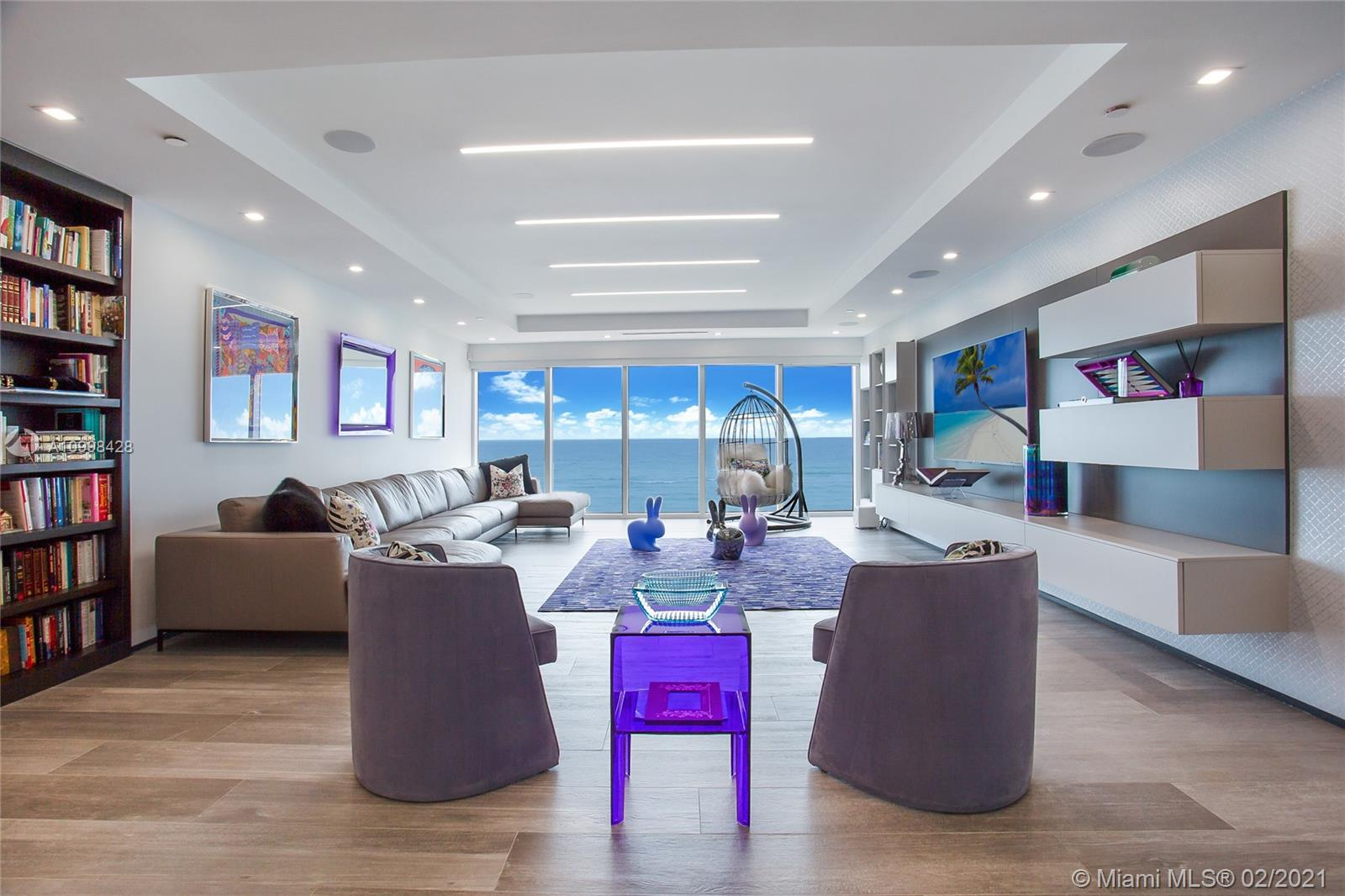 Located directly on the ocean, this beach pad is one of the most unique oceanfront properties in all of south Florida. Designed with impeccable taste and style, this 6 bedroom, 6.5 bathroom home is steps from your own private beach club. The Beach Club offers beach and pool service for all of its residence and state of the art gym/ spa facility as well. This beach oasis has its own private entrance and 2 self parking spaces to really give it the feel of a single family residence. Equipped with smart technology and top of line finishes this is the perfect pad to call home.