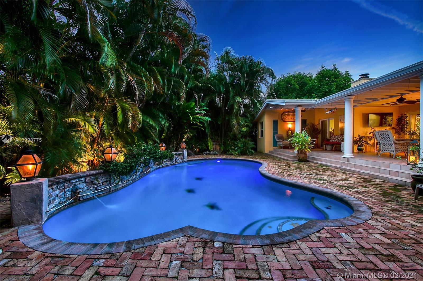 Look no further! This beautiful 2/2 in Rio Vista is your own secluded tropical paradise. Featuring a salt water pool and koi pond, gas range, covered patio with a built in gas grill, impact windows and doors, newer roof, recently updated bathroom, wired for security, surround sound and exterior entertainment. Centrally located a few blocks from Las Olas blvd and a short bike ride away from Fort Lauderdale beach. This home has it all.