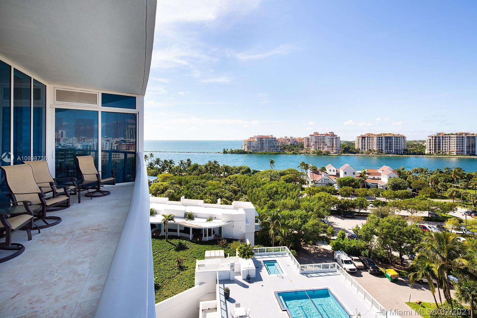 Step off the elevator into your private foyer before entering this spacious 2-beds, 2.5-baths unit at the Continuum. Enjoy 1591 SF of marble floors, floor-to-ceiling windows, Italian kitchen, granite countertops, Subzero refrigerator, Miele appliances and a large balcony overlooking South Pointe Park, cruise ship alley and Fisher Island. One assigned parking space 109A and storage unit 124. Continuum sits on 12 acres of luxurious amenities such as 1000 feet of white sandy beach, beach-side services from Patio restaurant, expansive free form lagoon pools and spa, fully equipped world-class fitness center with selection of classes, spa treatments, rooftop, lap pool, restaurant, 3 tennis courts, full-time concierge service, security and valet parking.