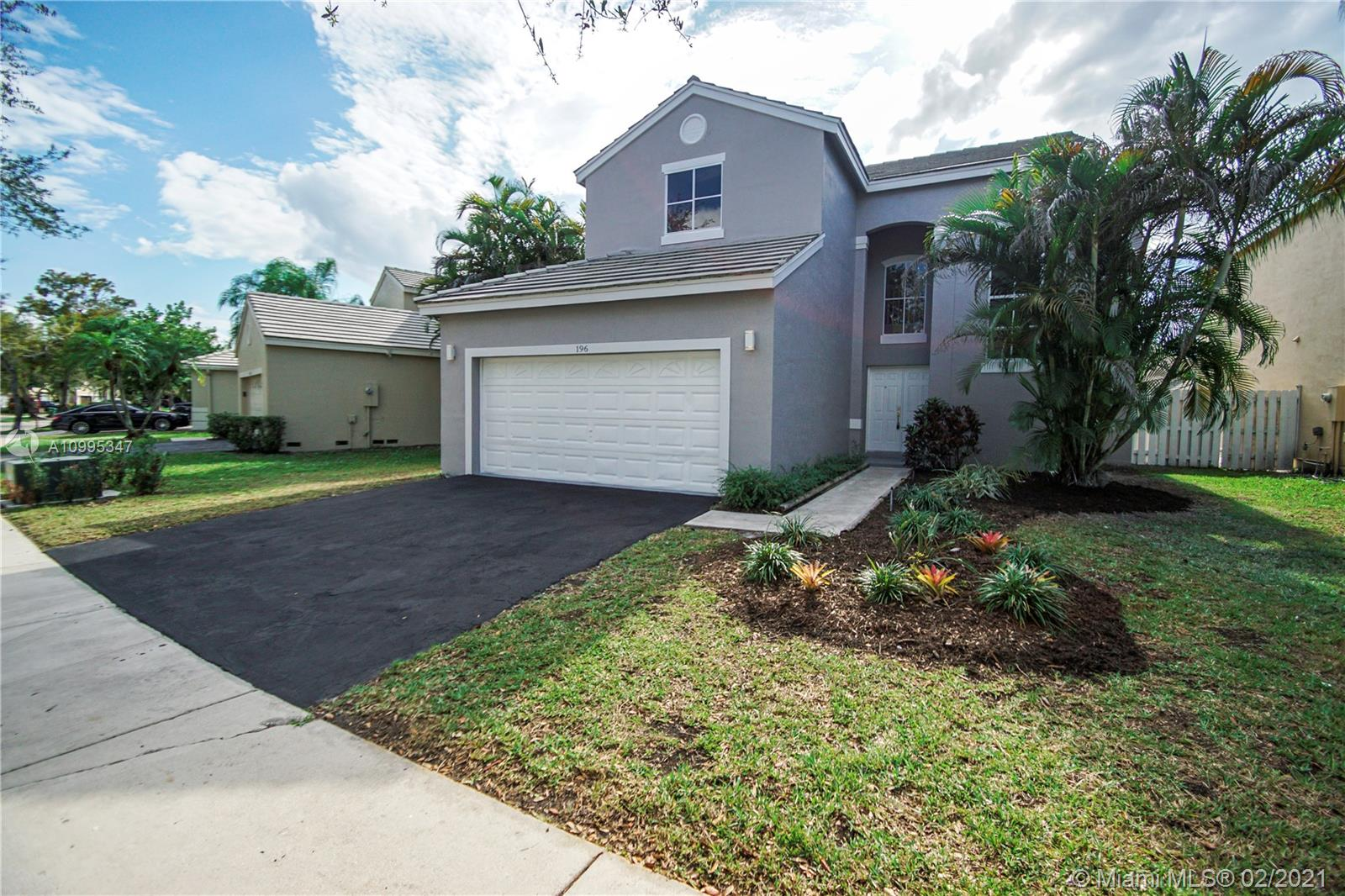 This home features 5 Bedrooms 3 1/2 Baths One of a kind fully renovated home with a 2 car garage, a spacious private backyard with a small Pool. Professionally decorated w/ Tiles & Vinyl Waterproof Floors. Modern kitchen w/ quartz countertops and NEW stainless steel appliances. Bathrooms remodeled with quartz tops. 1 Bedroom downstairs. NEW fresh Interior/Exterior Paint. NEW A/C. The community features 24 hours manned security, playgrounds, a pool with a clubhouse, and jogging paths around the community. Close to shopping, restaurants, and all major highways. TURN KEY Ready.