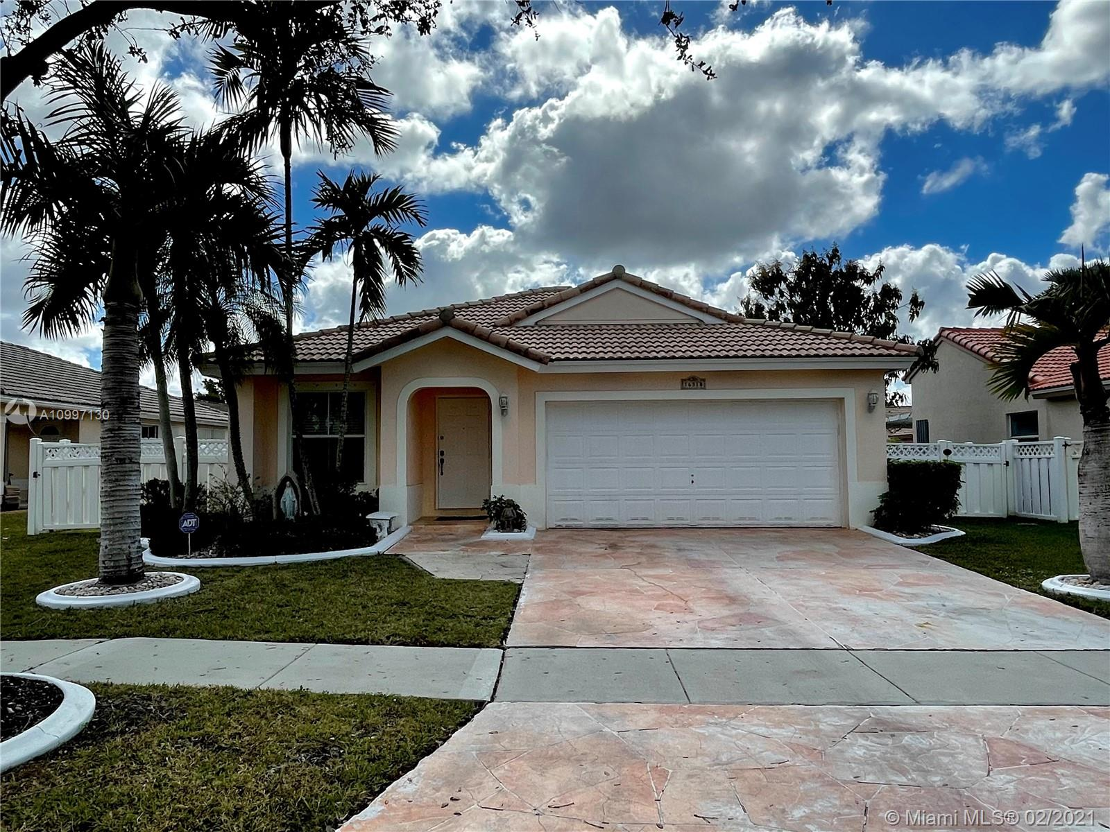 Here's your opportunity to own a 3 bedroom, 2 bath pool home and live in the serene Guard-gated community of the Beaches at Pembroke Shores! This one makes a great starter home.....Boasting an open floor plan with a kitchen overlooking a oversized family room. You get the opportunity to update and upgrade it to your personal taste. Come take a look at the least expensive pool home available in Pembroke Shores. Owner ready to sell and downsize!