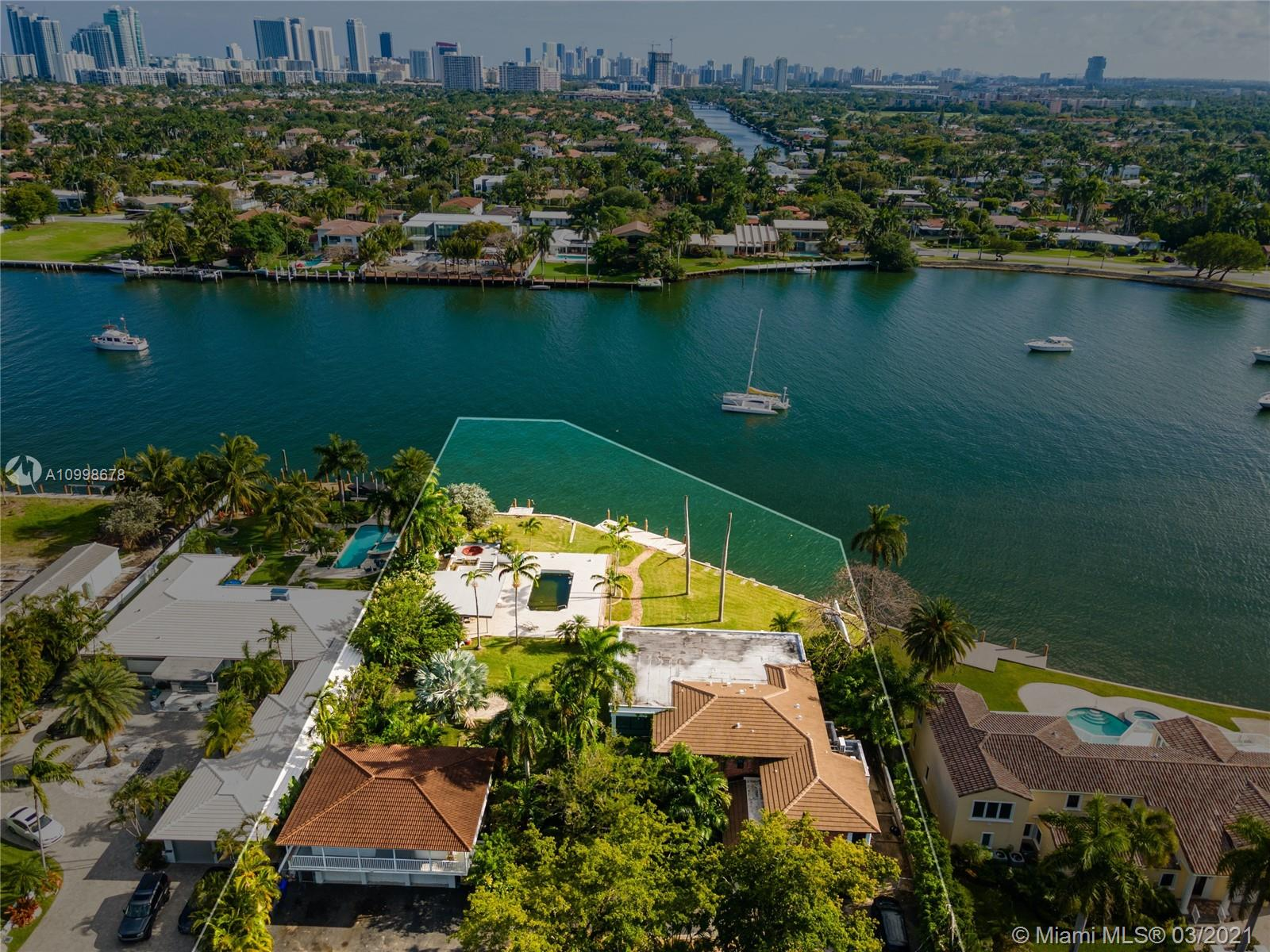 Prime waterfront land for sale to develop or custom build your dream house. Lot is over 30,000 sq ft, facing south, with 150 ft on the water with unobstructed views and access to intracoastal. Capable of accommodating large vessels. Just minutes from the beach.