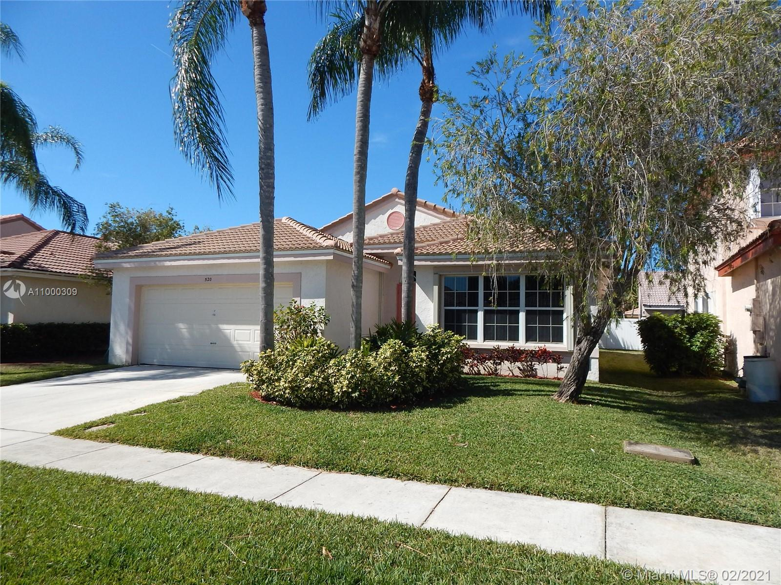 Beautiful home in Pembroke Pines, roof was replaced in 2020, the home has hurricane shutters and the garage door is impact resistance.