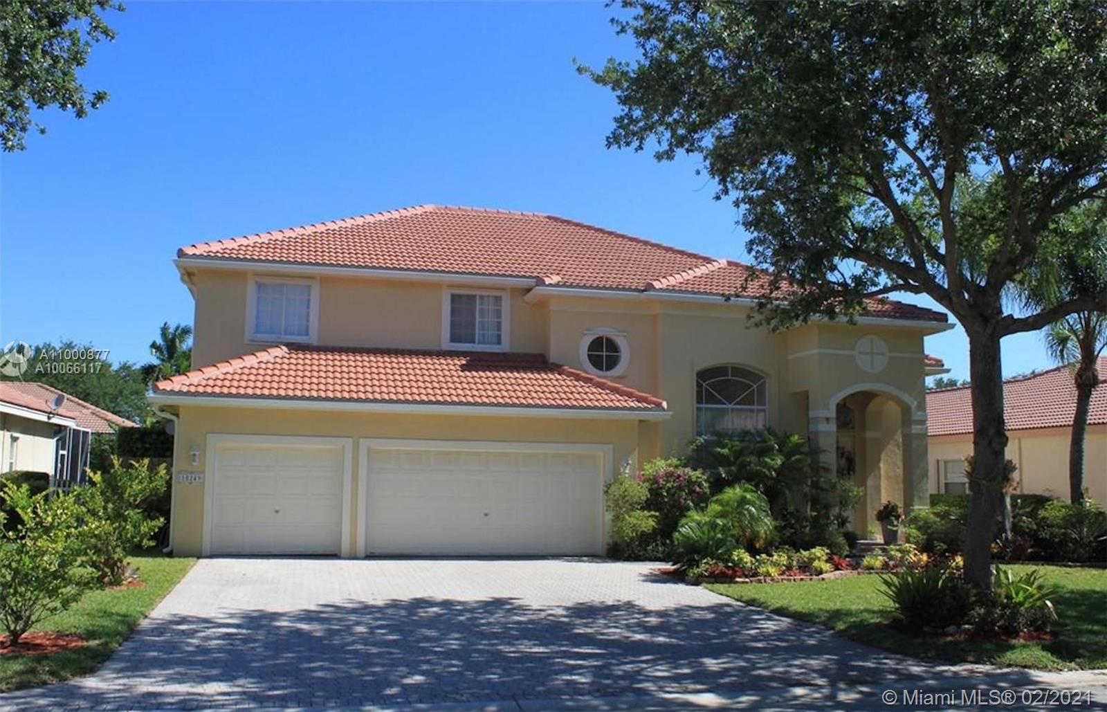 Ready to move in. Gorgeous and spacious home with 5 bedrooms, 3 bathrooms, 3 car garage in great and desirable community in Coral Springs with inexpensive HOA. Large backyard for entertainment with beautiful pool. Freshly painted throughout. Wood flooring in all bedrooms and stairs. Stainless steel appliances. Hurricane according shutters. Excellent school district, close to shopping centers and to highways.