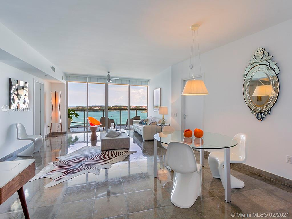 Live at The Icon South Beach, stunning direct bay views with an oversized balcony in this 2 bed 2.5 bath luxury condo. Spacious split  floor plan, with a den that can be used as a 3rd bedroom. The Icon is a full-service building that boasts a state of the art gym, restaurant, spa service, 24-hour valet and security. Close to the beach, Joe's, Milos, Prime 112, and South Pointe Park.