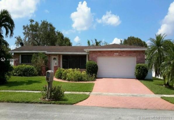 Classic Extended Pembroke Model, Well cared for by original owner, Updated kitchen, Remodeled master bath, Updated AC & Hot water heater, Accordion shutters, Covered screened patio, Oversized fenced lot on cul-de-sac street, Deed restrictive community