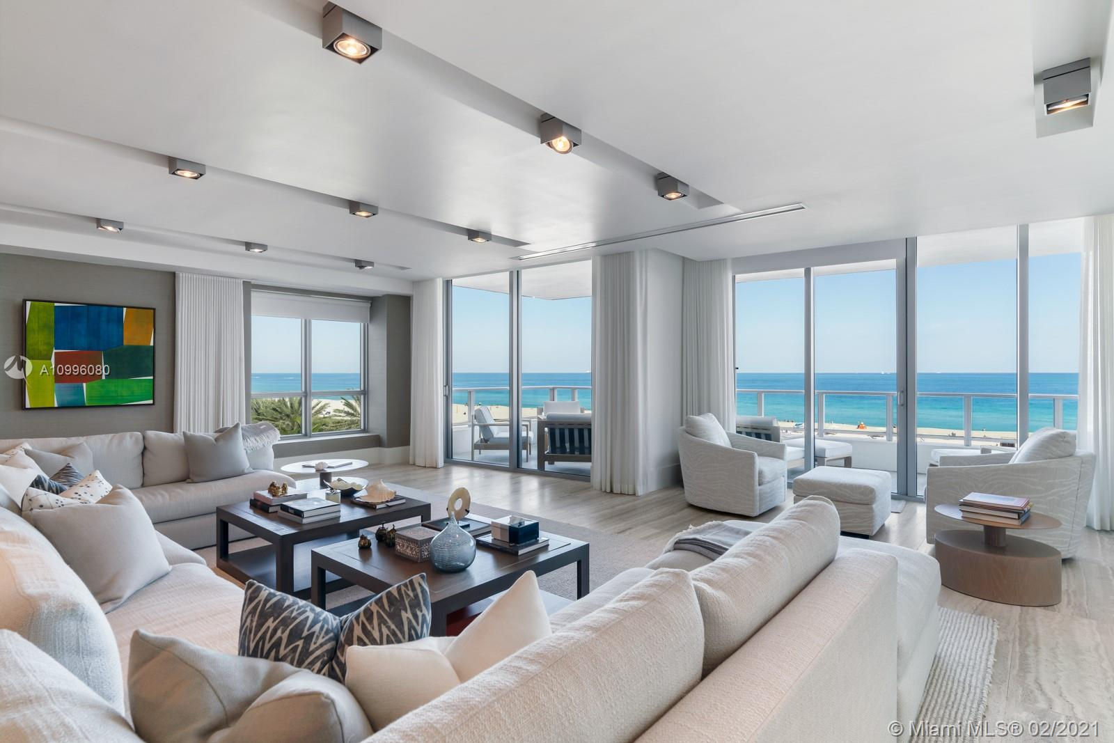 Privacy, tranquility & serenity describe the lifestyle at Ocean House. This expansive East-to-West flowthrough residence boasts an open floor plan, top of the line kitchen with gas range and stunning views of the Atlantic Ocean. Located in the heart of South Of Fifth, Ocean House is a boutique waterfront building on the famous Ocean Drive and steps to some of the cities top restaurants, bars and South Pointe Park & Marina.