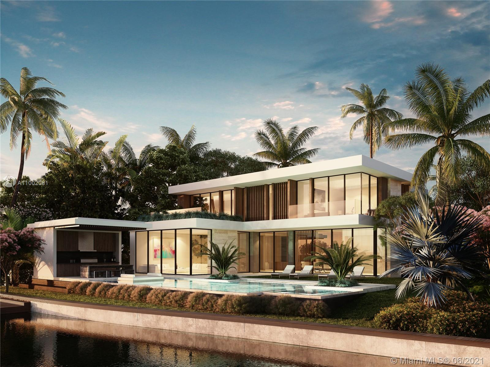 Clara Homes to build new luxury waterfront mansion with west facing wide bay sunset views of the Miami skyline. Located on the premier Venetian Islands, this modern home embodies architectural simplicity, open plan indoor/outdoor living and luxury amenities. Dramatic entry with high ceilings leads to living areas, gourmet kitchen + chef's kitchen, family rm, dining area, entertainment bar. Oversize 13,000 sq foot lot with 103 feet of waterfront, and 6,700 of adjusted sq house area. Top-of-the-line finishes, theater with state-of-the-art sound, Savant home-automation, Boffi fixtures, designer lighting. Completion Fall of 2022.