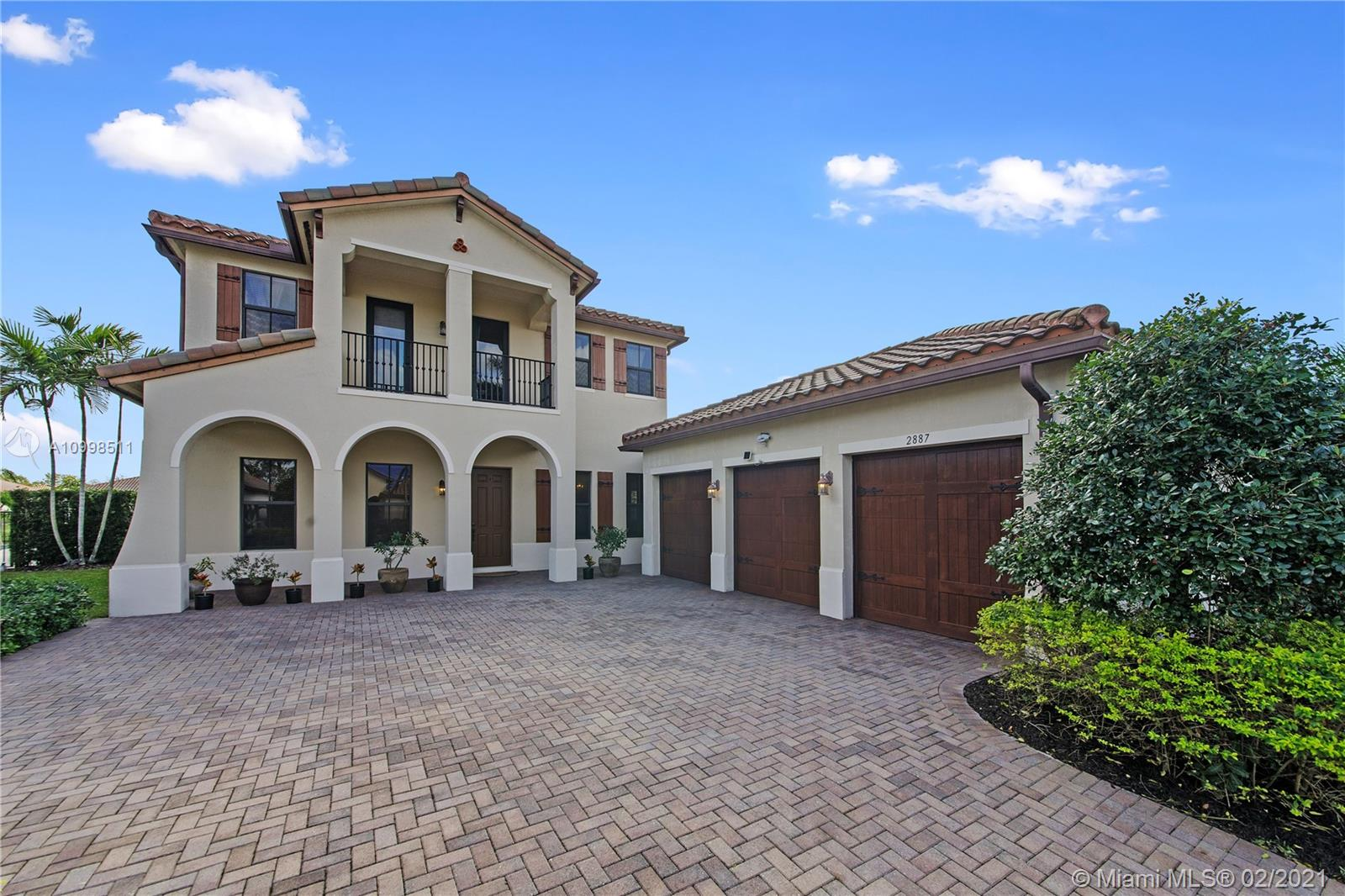 WELCOME TO COOPER CITY'S MOST SOUGHT AFTER GATED COMMUNITY! THIS WATERFRONT CAMBRIA MODEL OFFERS 5 BEDROOMS AND 3.5 BATHROOMS WITH SPECTACULAR WATERVIEWS. ADDITIONAL FEATURES INCLUDE MASTER SUITE DOWNSTAIRS, 3 CAR GARAGE, HURRICANE IMPACT WINDOWS AND ROOM FOR POOL. THE COMMUNITY OF MONTERRA OFFERS RESORT STYLE AMENITIES INCLUDING TENNIS & BASKETBALL COURTS, FITNESS CENTER, TOT LOT AND DOG PARK. A+ RATED SCHOOLS, JUST MINUTES FROM THE AIRPORT AND MAJOR HIGHWAYS. PRICE IS FIRM, NOT CONTINGENT ON APPRAISAL. SHOWINGS BEGIN 02/27/2021