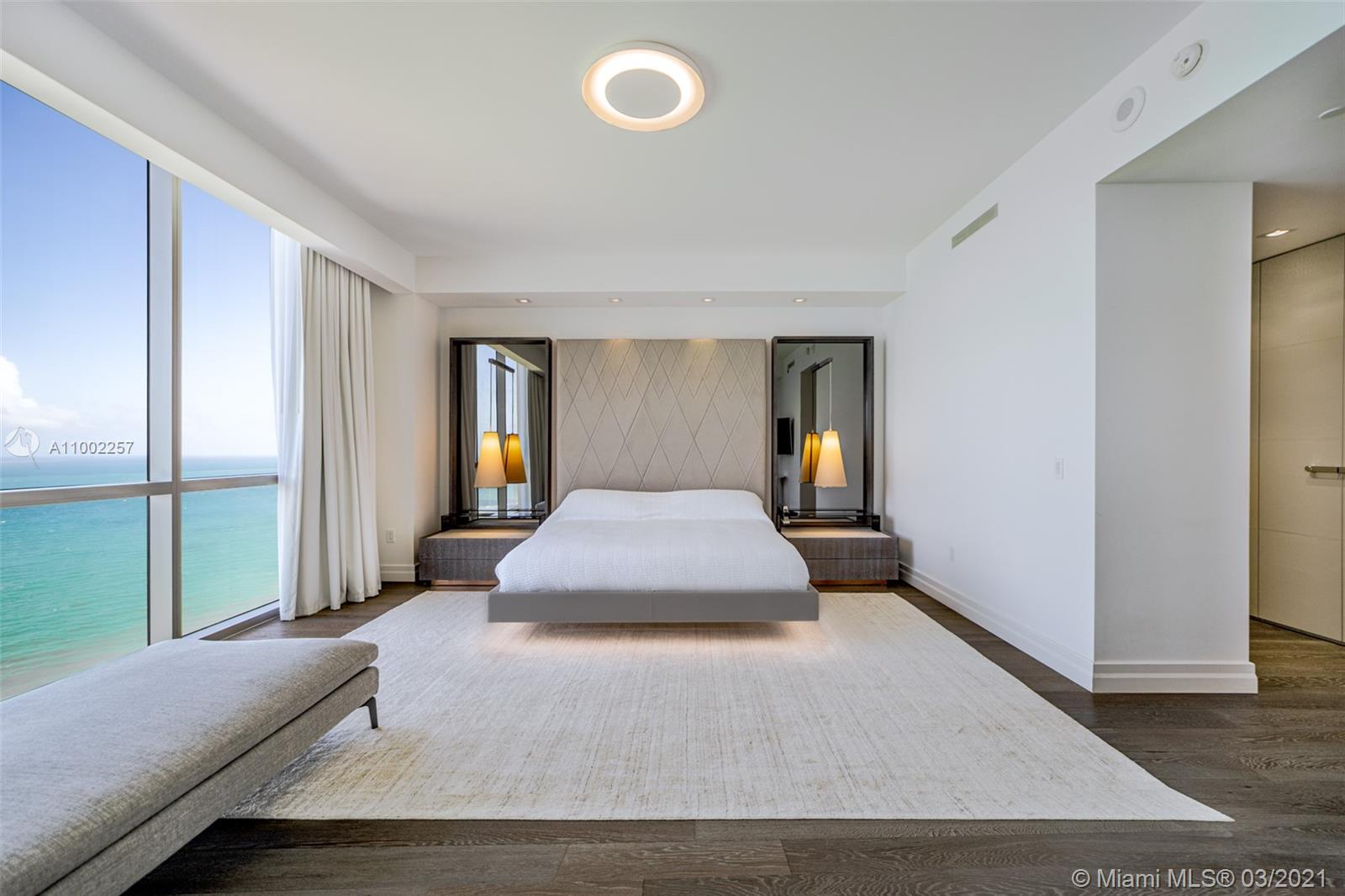 Spectacular Sunny Isles Residences in the coveted Mansions at Acqualina. Top of the line appliances and completely turnkey, all you need is your toothbrush. Best priced, 4-bedroom unit in the building. Furniture included** Resort style living. Must see!