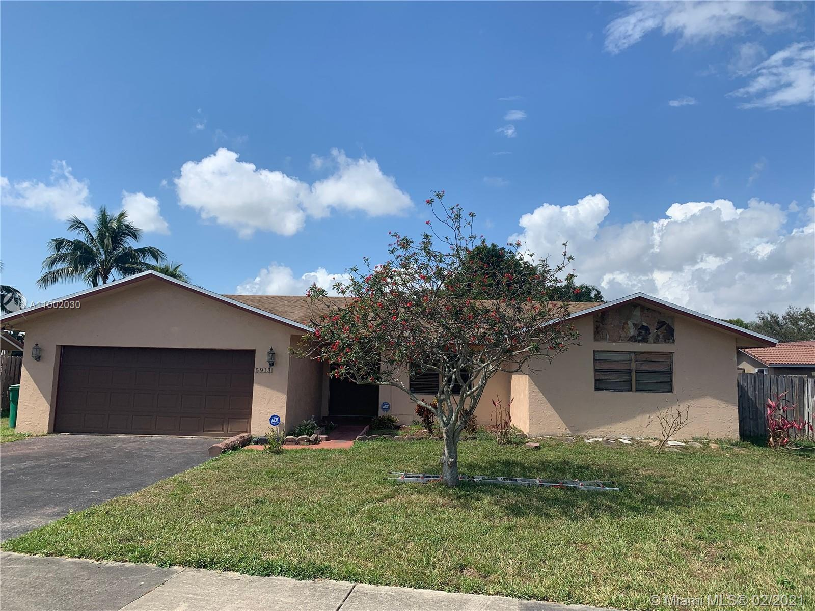 This spacious, 3 bedroom 2 bathroom single-family home, located in the heart of Cooper City features an open floor plan with separate dining and living space.  The master bedroom is a great size, which includes a separate walk-in closet. You'll enjoy the large screened-in patio that sits perfectly on a tree-shaded lot. The roof was replaced in 2021. No HOA.  Located near great Schools, Restaurants, Shopping & all major highways.