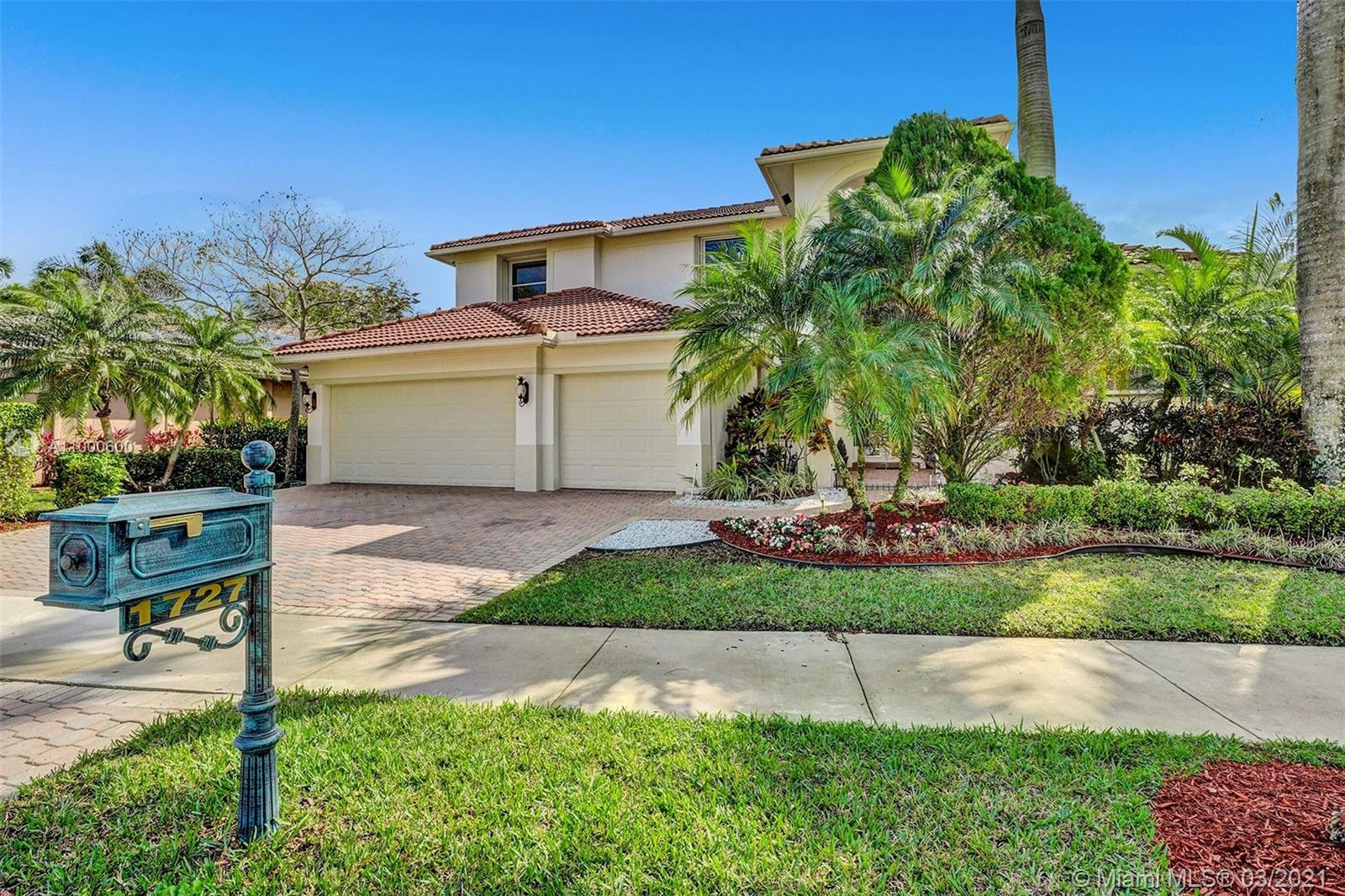 Tucked in the gated community of Victoria Pointe at Weston Hills Country Club. Spacious Denton model with the finest of upgrades. Enter this grand home with gleaming marble flooring with a 2 story living room, private office with windows on the pool and patio. Master bedroom suite on the first floor with soaring ceilings, custom draperies, bamboo wood flooring, and new black-out electric shades. A luxurious bath, oversized dual shower, and dual sinks. State of the art Wolf in the woods kitchen (2011) fit for a chef with an oversized island with double granite countertops, two pantries in kitchen, one walk-in, and top-of-the-line Bosch appliances. Enjoy a dual staircase to the second level with gorgeous wrought iron railings with wood stairs. Four spacious bedrooms upstairs plus a loft