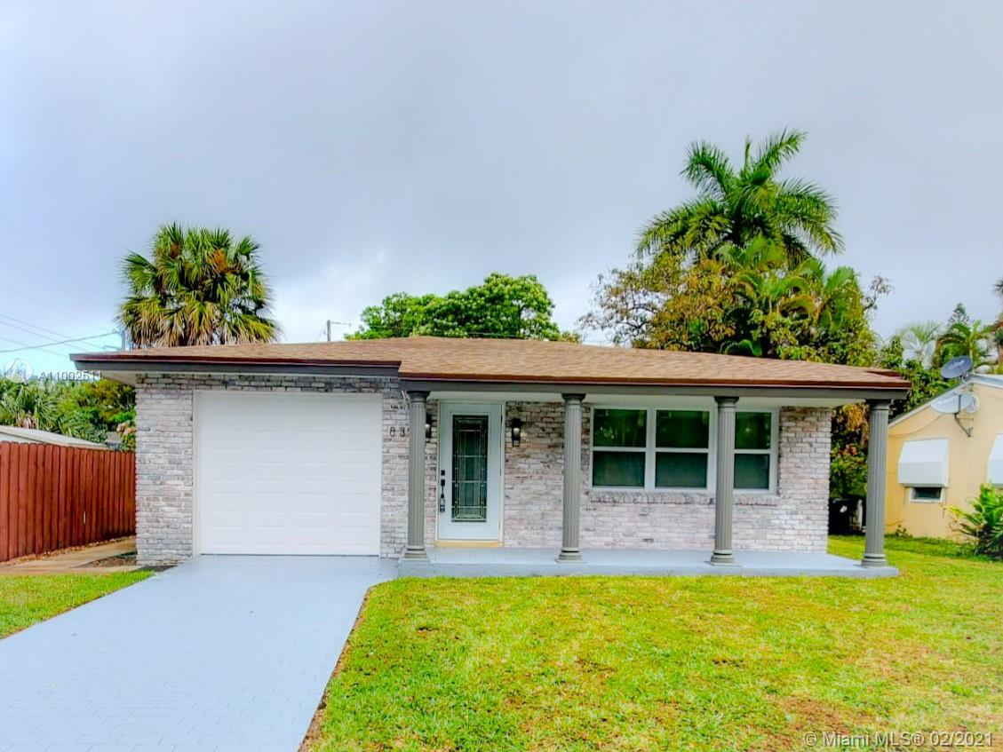Beautiful remodeled home in the very desirable neighborhood of Croissant Park. This gem features 3 bedrooms and 2 fully remodeled bathrooms plus one car garage. Ready for Florida hurricane season with impact windows and doors plus brand new roof. New custom made kitchen with quartz counter-tops and brand new LG stainless steel appliances. New HAVC, LVP floors and a huge backyard with plenty space for entertainment and a pool. Close to every single attraction in downtown Fort Lauderdale such as Las Olas, beach, airport, restaurant, shops with easy access to I95 and I595. Hurry up, this unique opportunity won't last long.