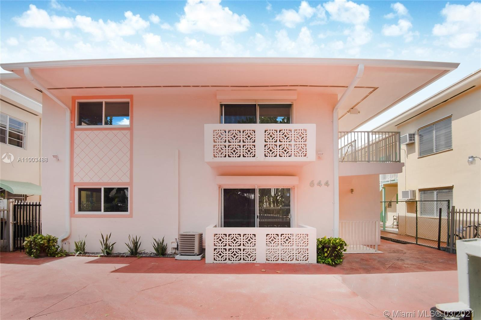 644  Meridian Ave #8 For Sale A11003488, FL