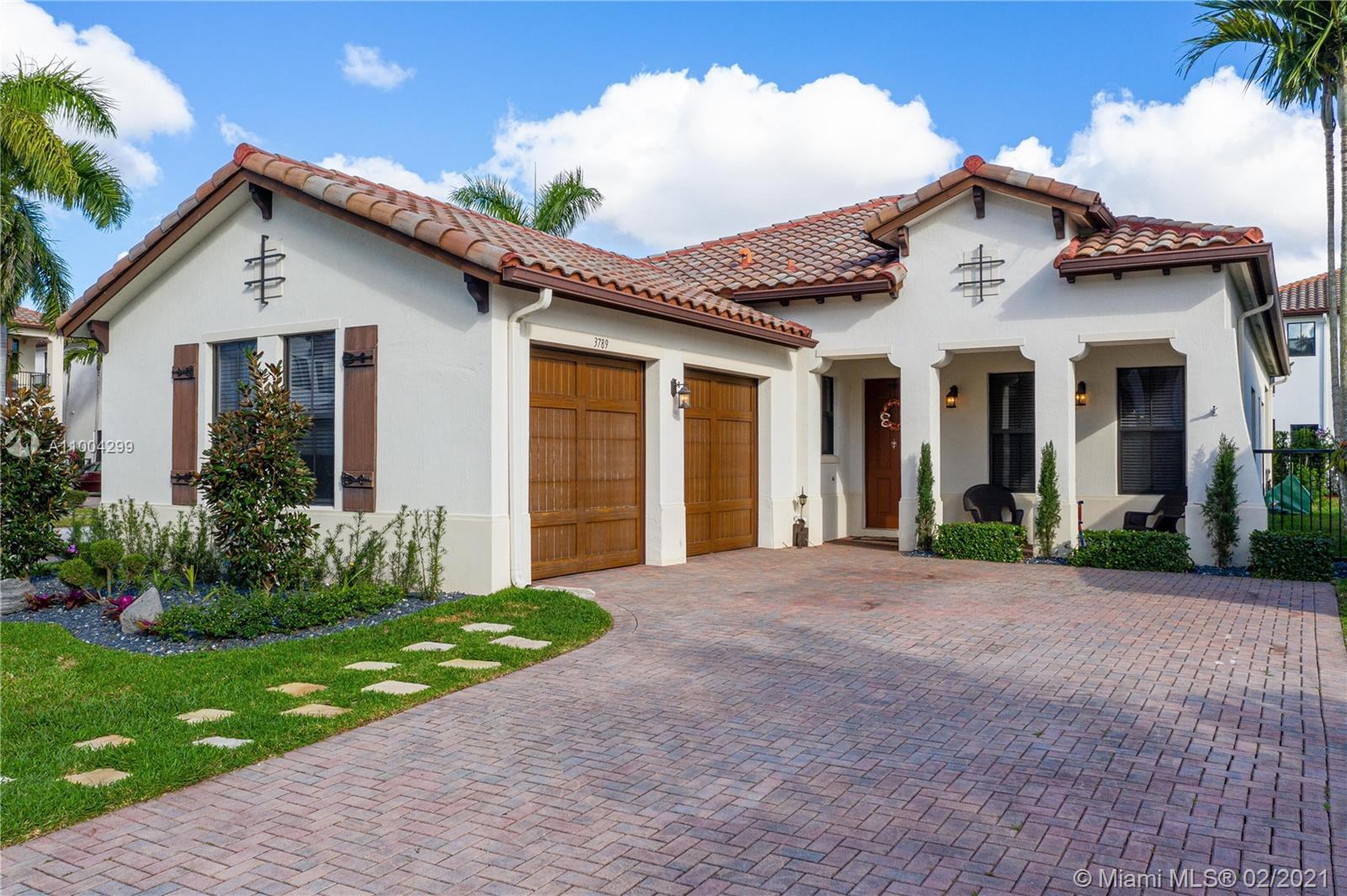 """Beautiful corner Home in one of Cooper City's newest communities Monterra!!  3 Bedrooms plus a large office/ 4th bedroom and 3 full Bathrooms!  Built in 2014! Open floor plan, High ceilings, impact hurricane windows, and 2 car garage. Large master bedroom with jacuzzi tub and 2 Walk-in closets in master bedroom.  Tons of natural light, amazing floor plan, custom flooring in bedrooms, and beautifully landscaped fully fenced backyard.  Zoned for Cooper City's top """"A"""" rated schools!!  Association only $110 per YEAR!! Beautiful clubhouse with pool, gym, tennis, and basketball courts.  Will not last long!!!  Open House Saturday and Sunday 12-3:30pm."""
