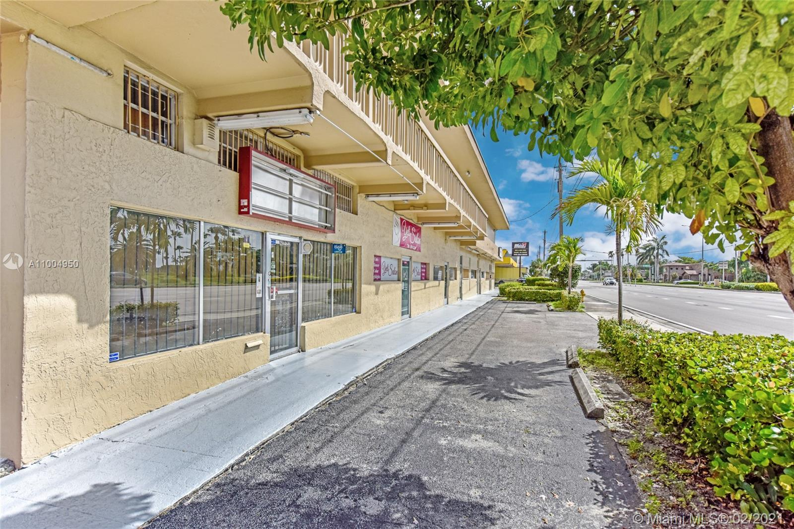 Located in the heart of Cutler Bay, 20462 S.Dixie Hwy includes 12 retail/office spaces (1st floor retail units at $25/sf MG include 680, 650sf and 680sf --- 2nd floor office suites at $20/sf MG include 1,019sf and 1,334sf) within a 2-story building that sits on 12,500 SF of land, adjacent to a hard-corner and across from Southland Mall. Moreover, the property sits right on the Rapid Transit Busway, just 50 feet away from a $30 Million Rapid Transit Station that has been approved for construction and will move thousands of people each week through this location. Share the building with great neighbors that have been in place for years, including a wonderful Peruvian restaurant, hair salon, tax filing agency, and Italian suit store.