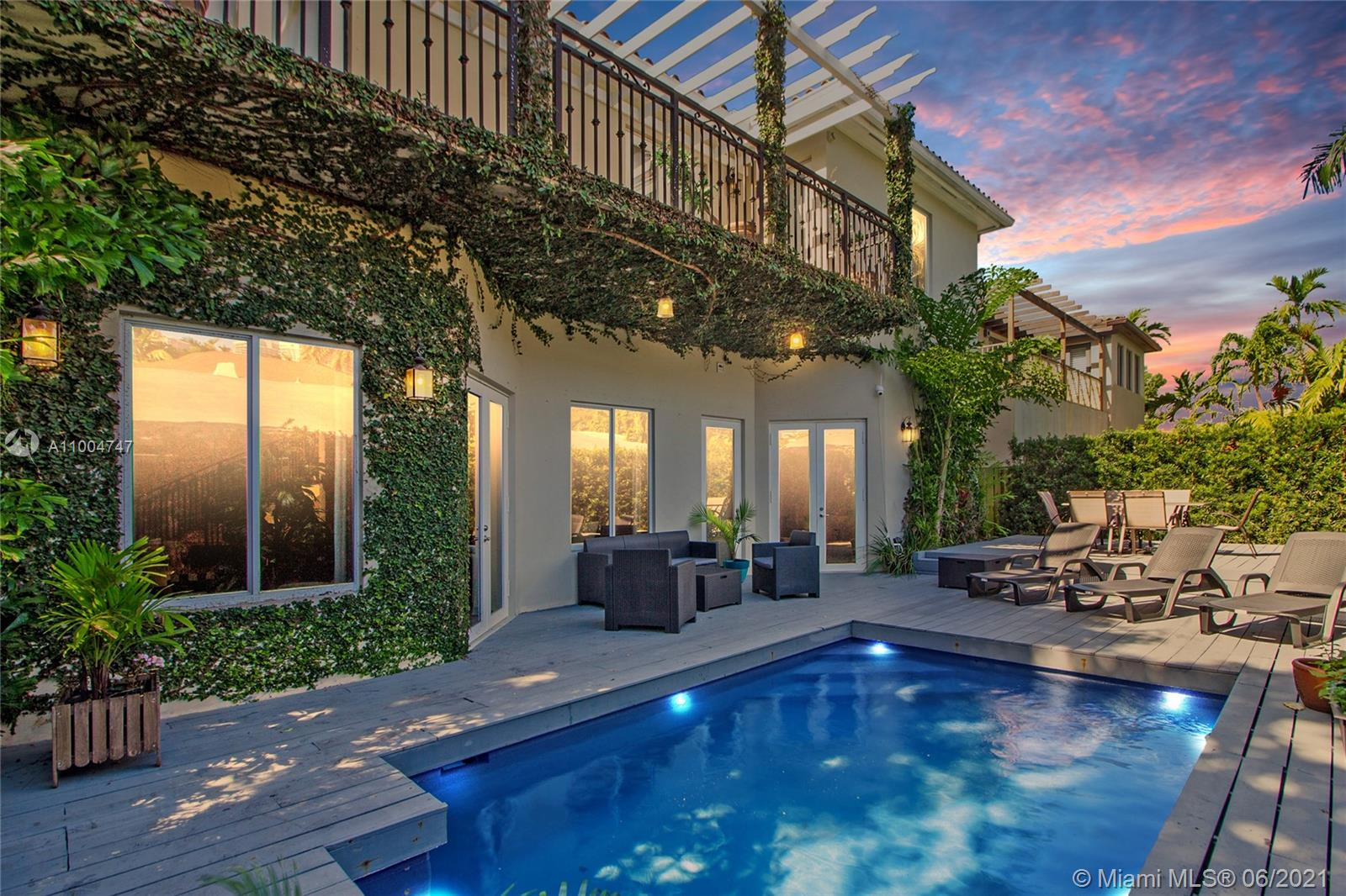 BACK ON MARKET & PRICED TO SELL! Spectacular 5 BD/5.5 BT w/two-car garage boasts 4,106 SF on 7,110 SF corner lot on historic & in high-demand South Miami Avenue! First floor soars +20' ceilings, elegant foyer w/grand staircase, travertine floors, 1 corner BR w/en-suite bath, formal dining, cabana bath, living & expansive family room opens to a serene, wood-decked patio/plunge pool, etc. 2nd floor- large ent. suite resides atop the stairs, double-doors open to large master BR w/dark wood floors, separate entry to his/her closets flows into a grandiose bath & 4 en-suite BRs. Steps from Brickell & blocks to I-95 for easy access to Design District, SoBe & rest of SoFla. Luxury living w/all of Brickell amenities, shopping, restaurants & blocks to water! Zoning allows home/office use. 5% CAP