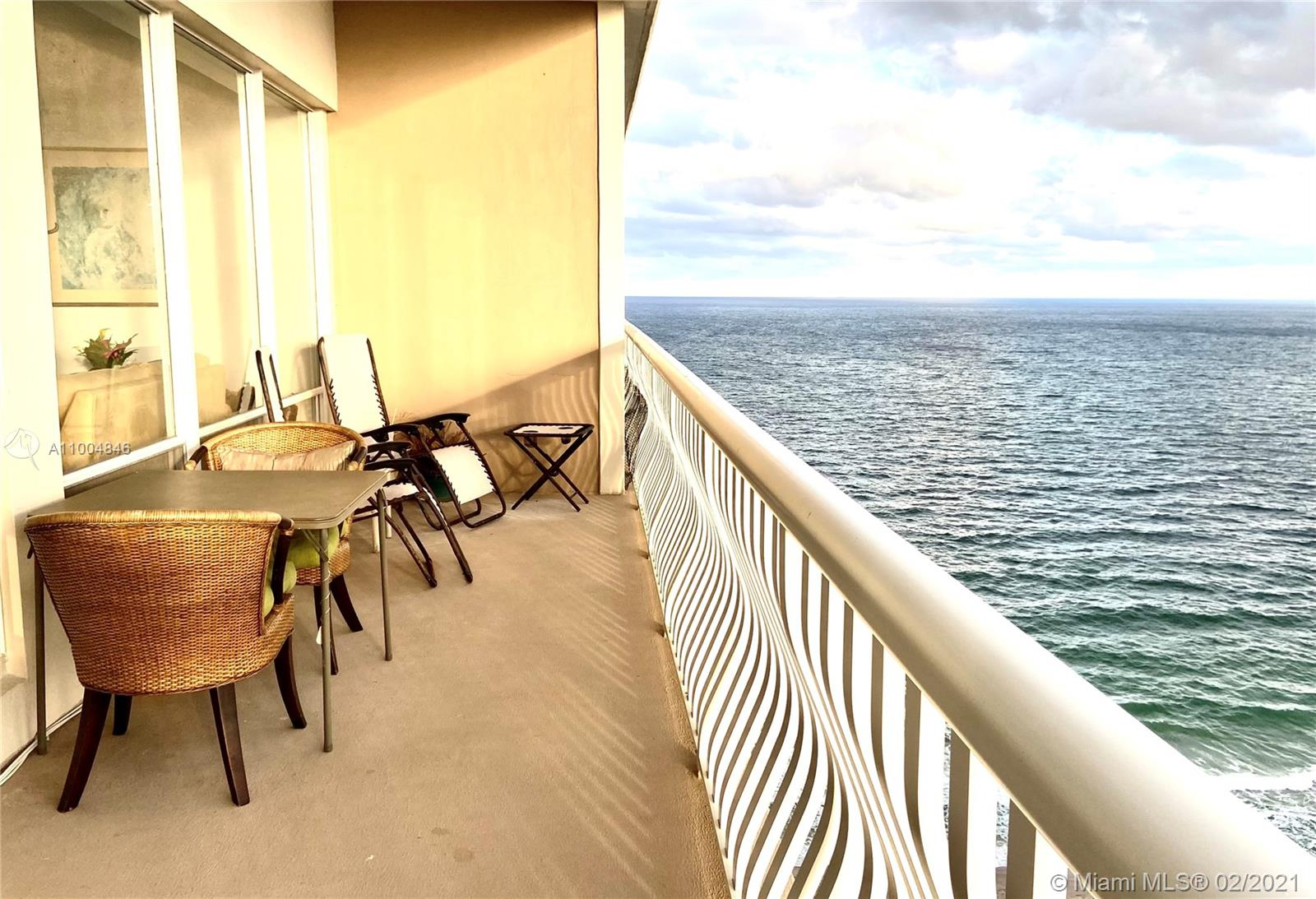 RARE OPPORTUNITY - LARGE OCEAN FRONT PENTHOUSE - FULLY RENOVATED - OPEN KITCHEN - PANORAMIC OCEAN AND CITY VIEWS - 2 BR/2 BA CONV 3 BR - FULL AMENITY BUILDING - Come live on private beachfront in Fort Lauderdale's best kept secret, the Galt neighborhood. Unit boasts high ceilings, polished tile throughout, entertainers kitchen with butlers area. Oversized master bedroom with office/sitting area, en suite bathroom with double shower, walk in closets. Oversized second bedroom with walk-in closets. Rare Washer/Dryer in unit. Building amenities include a Rooftop Pool, Gym, Tennis Court, Ocean Front Patio BBQ Area, Bocce Ball, Library, Card Room, Party Room, Bar/Lounge Area, Art/Dance Studio, Adult Game Room, Youth Game Room, Women's Lounge and Men's Lounge. Lobby attended 24/7 with security.