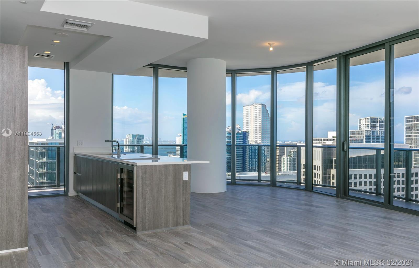One of a kind 4 Bedroom 4.5 Bathroom unit in the new SLS Lux Brickell. Flow through unit with South East corner views and 2 master suites. Residents can enjoy ultimate access in an oasis of exclusive privileges. Sophisticated designer interiors, original works of art by contemporary masters, private rooftop pool terraces and celebrity chef restaurants are amongst the many features, amenities and services designed to indulge by residents of SLS LUX. Pamper yourself by the SLS Spa and room service from the onsite Katsuya restaurant/bar, access to the 57th level rooftop sky lounge and two-story Cava lounge with outdoor living rooms and Jacuzzi waterfall showers. Enjoy rock-climbing wall, tennis court, basketball court and full-service fitness center.