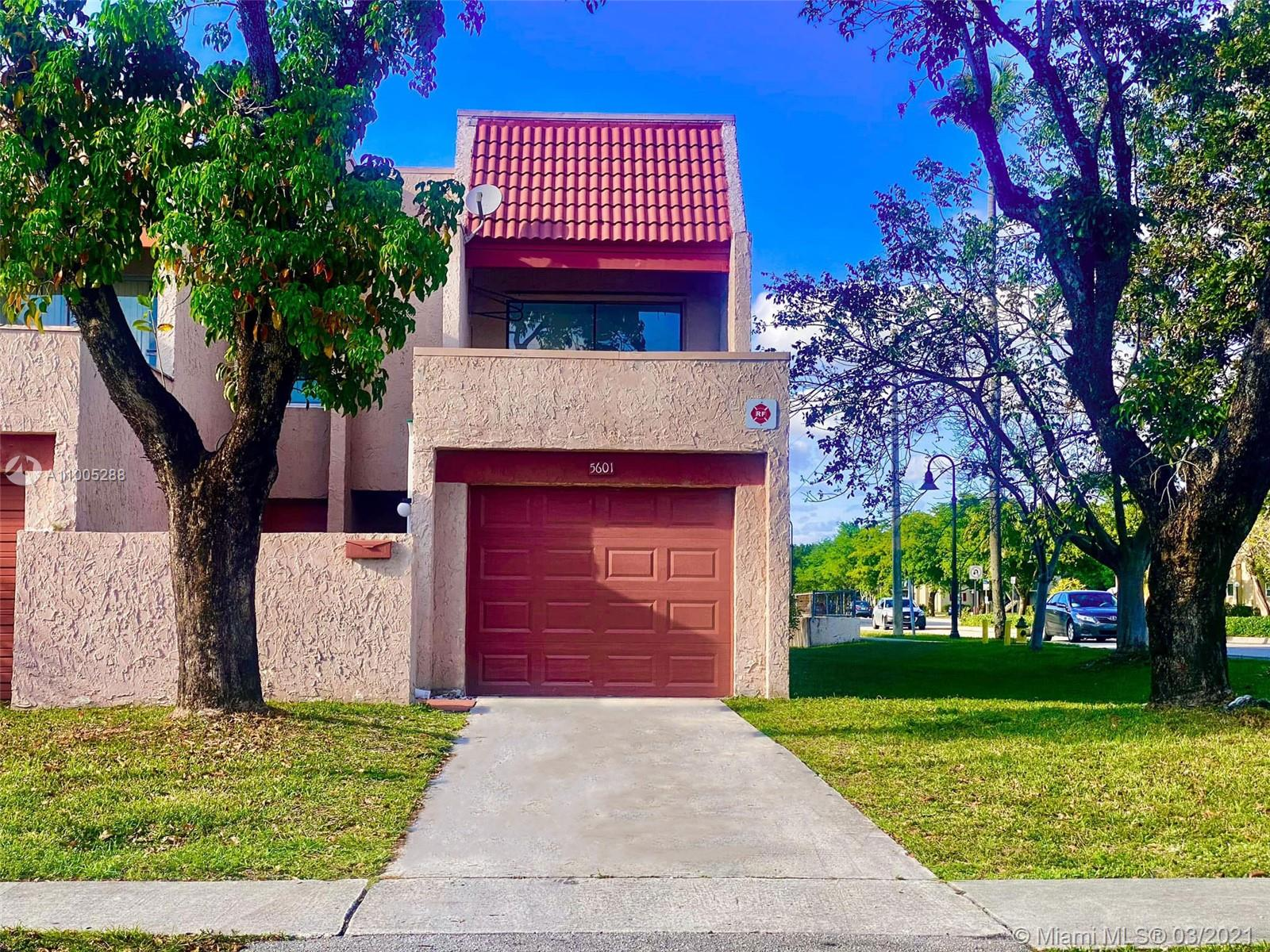 Newly Remodeled Bright and Spacious Home. 3 bedroom + 2.5 bathroom, 1800 Sq. Ft townhome in a very unique community, ideally located in Lauderhill FL.  Sprawling private grounds offer a homely feeling with a community pool and play ground for the kids to play.  Bright, quiet 3 bedroom, 2 full bathroom and 1 half bathroom townhome, corner unit with courtyard and long walk way. Remolded kitchen with granite counter tops and new appliances, tile floors throughout, walls freshly paint, new doors, new garage, dual sinks in master bath with both tub and shower. Brand new roof over the garage. 2-4 cars can park out front. $255.00 HOA fee. Don't forget the lake view in the back.