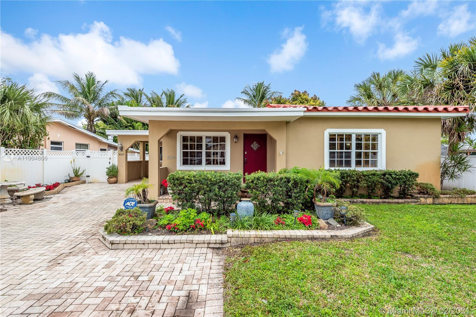 Your little piece of paradise awaits in the lovely Maleleuca Gardens! Huge lot with space for a pool and best of all, no neighbors behind you with a 50ft easement! This gem features 4 bedrooms, 2 baths, and 2 kitchens. Covered patio with built in BBQ great for grilling & entertaining. One bedroom and bath can be used as a mother in law suite with its own kitchen. Enclosed Florida room has sliding windows and skylights that gives it a bright and airy feel with doggy doors for your pets. Tons of storage space inside and out. Long pavered driveway leads into a covered carport. Main kitchen has a walk in pantry, granite countertops, and high quality appliances. Brand new AC and LED lighting throughout. Backyard gardening beds and mango trees. Neighborhood boat ramp just a block away!