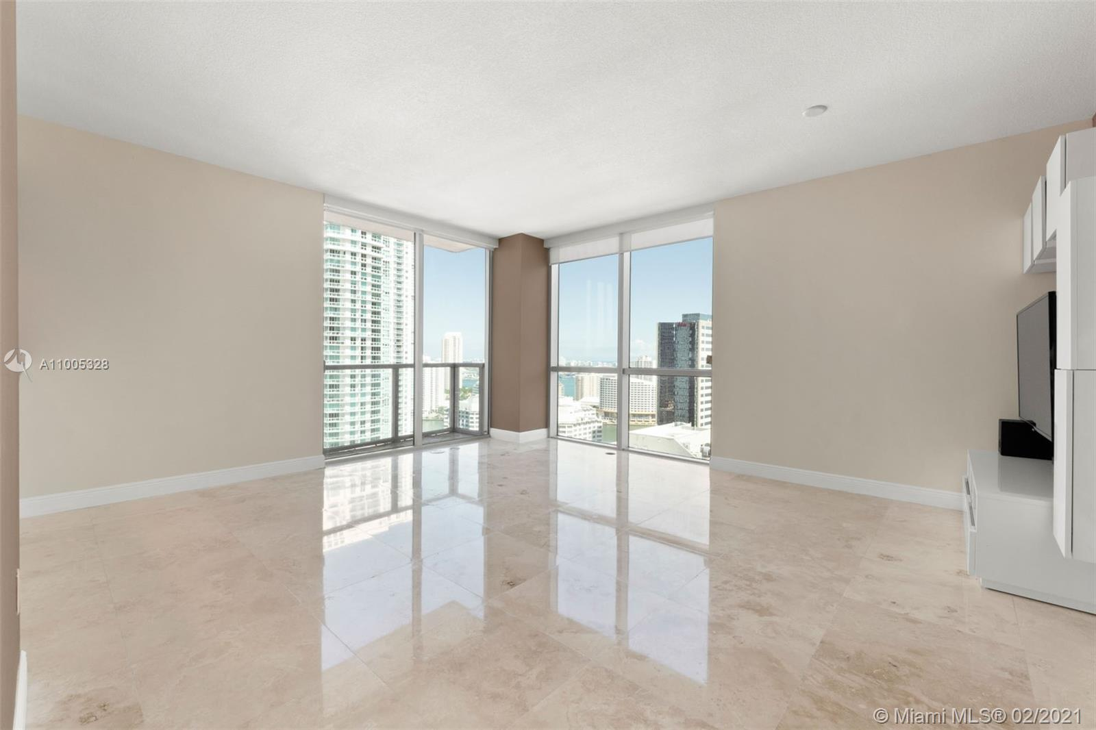Stunning turn-key residence in the Heart of Brickell! This 2 Bed/2.5 Bath luxury condo in the highly desirable 01 lines is located in the prestigious 1060 Brickell building. Featuring tile floors throughout and high-end finishes, floor-to-ceiling windows fill the space with ample natural lighting. With breathtaking water and city views surrounding on all sides, multiple balconies allow pure enjoyment of the indoor/outdoor space. The secure building offers 5-star amenities include a sparkling pool, state-of-the-art fitness center, golf simulator, concierge, valet, and more. Ideal location with shopping, dining, and entertainment just steps away.
