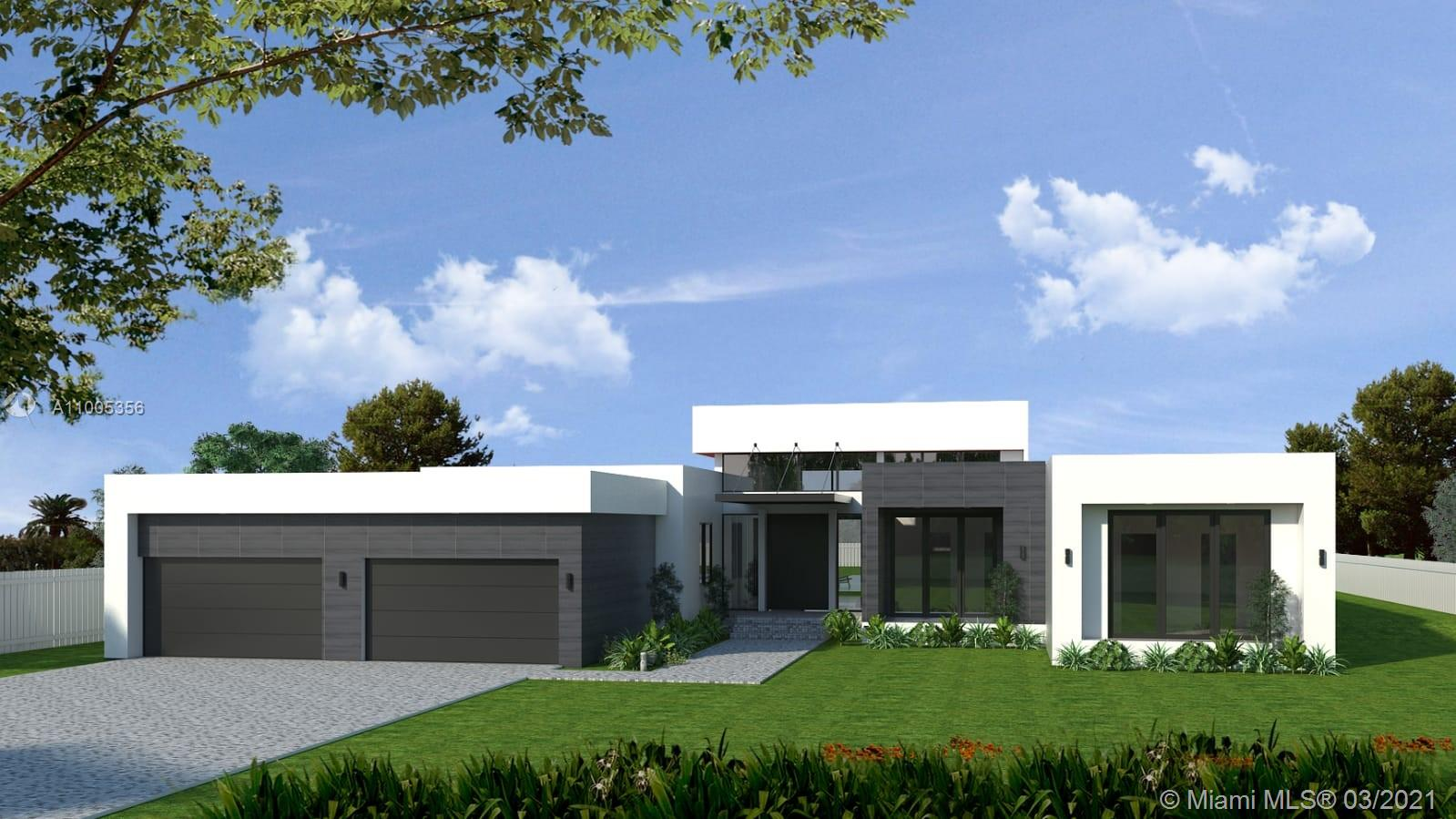 2021 new construction.  Magnificent contemporary home in Weston Florida! Built to the highest standards with impeccable finishes. Buyers get to choose the finishing touches. This home will overlook a beautiful lake and has an outstanding large pool. This property is perfect for a family, with a large variety of A+ schools nearby. This home boasts 6174 SQFT (4624 SQFT under air) large sized bedrooms. This widely spread-out home is the perfect design for an indoor/outdoor feel. This home will also have high ceilings throughout the living area. A large outdoor cabana bathroom, built-in grill and surround sound system through the backyard. The master bedroom will have a magnificent pool/lake view from your bed and will have a large four-car garage plus extra room for storage. Contact asap!