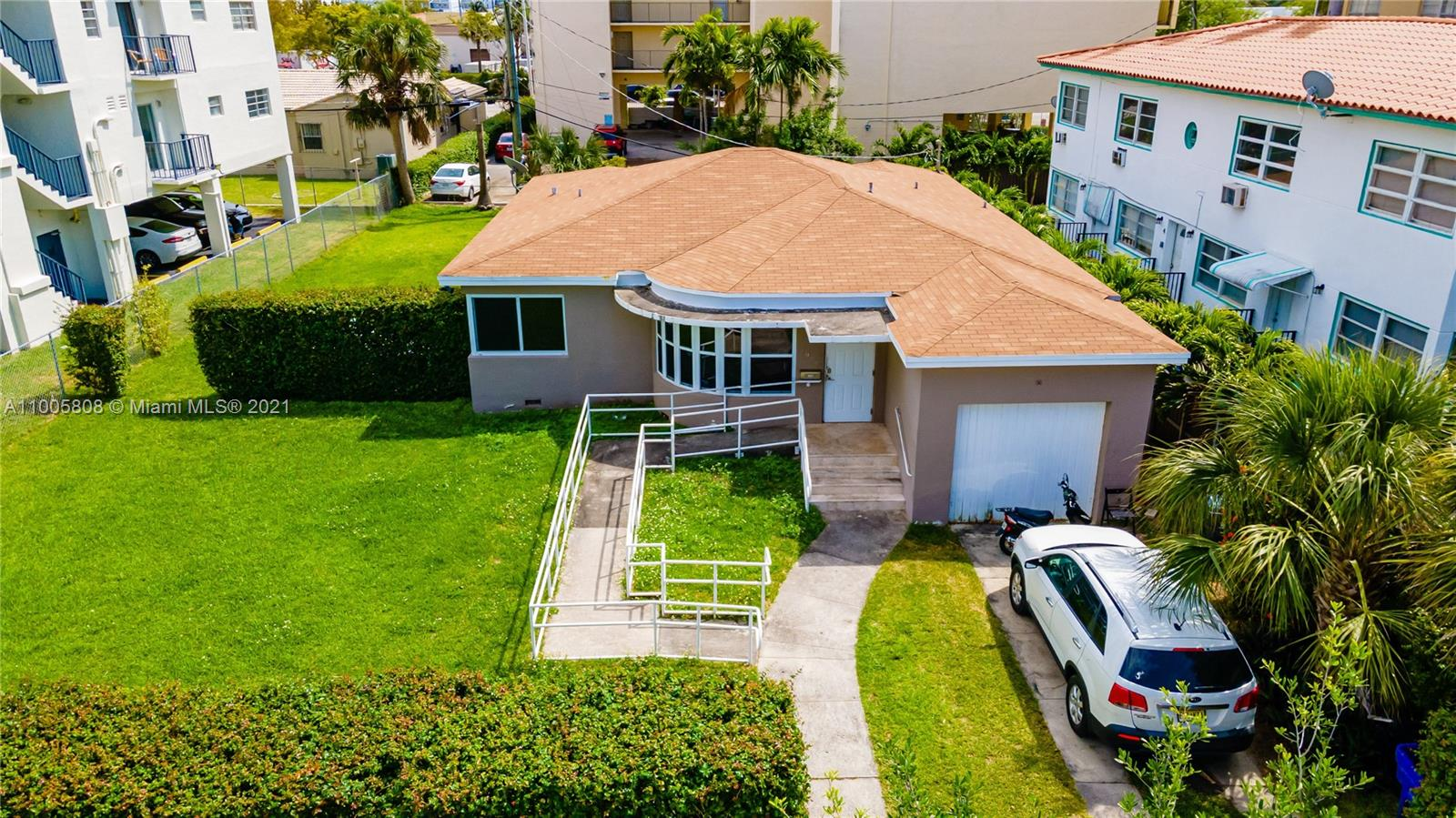 Great Opportunity to own a Renovated 5/5 home in a Wonderful Miami Beach area, Zoned RM-1 3900 - MULTI-FAMILY - 38-62 U/A.  This property can be converted into a 16 units building. Building code changes plans must be updated for new code. Property Sale AS IS.  This house offer a lot of potentials and possibilities.