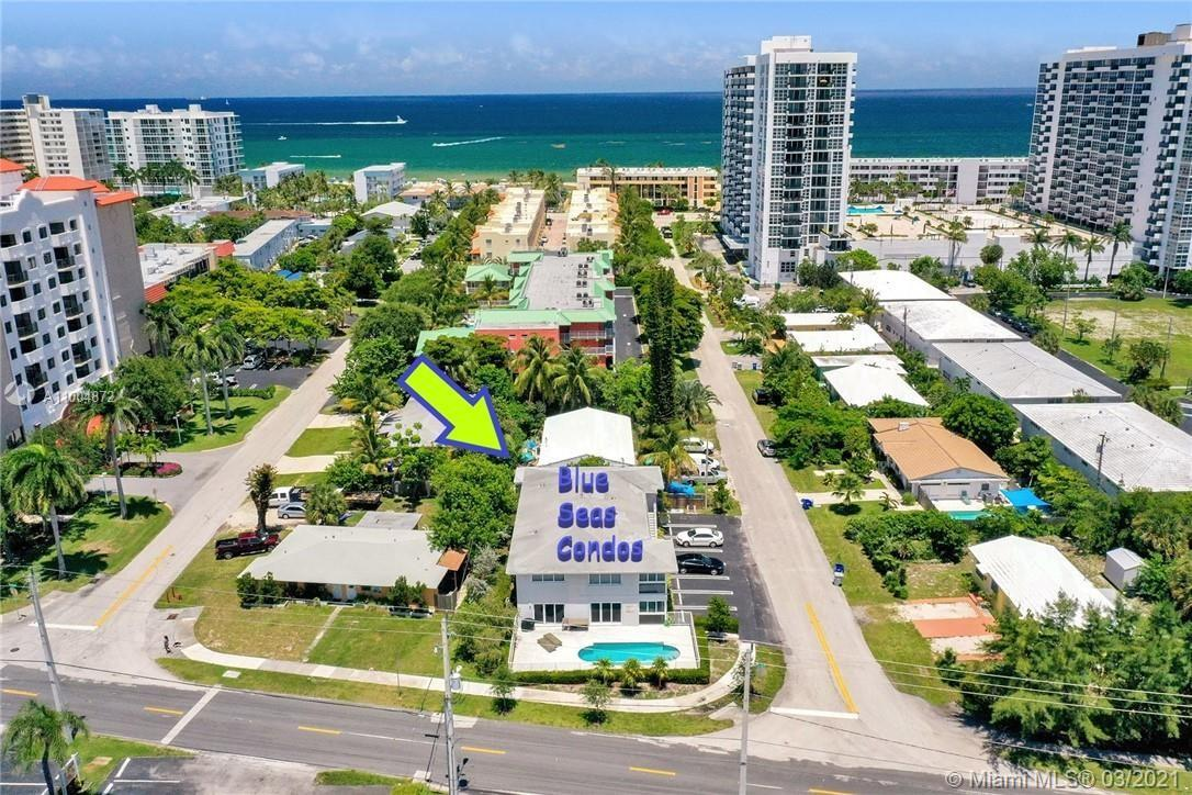 This beautiful, completely renovated & furnished 2bd/2 Bath modern condo is just a few steps from the beach. The home features porcelain floors, high gloss kitchen cabinetry, electric water heater, smart thermostat (Ecobee) high impact windows, blinds and curtains & a fully equipped kitchen. Fantastic income producing option for owners while providing a sweet 2nd home for them and their families. Rare opportunity in a boutique building where only 4 units share the community's heated salt water pool and BBQ, & where the association allows short term rentals & is pet friendly. Located in a great fun beach town w beautiful beaches, friendly people and amazing restaurants (Oceanic, Beach House, Rusty Hook, Nikki's organic kitchen). Publix, Whole Foods, Starbucks only a short drive away.