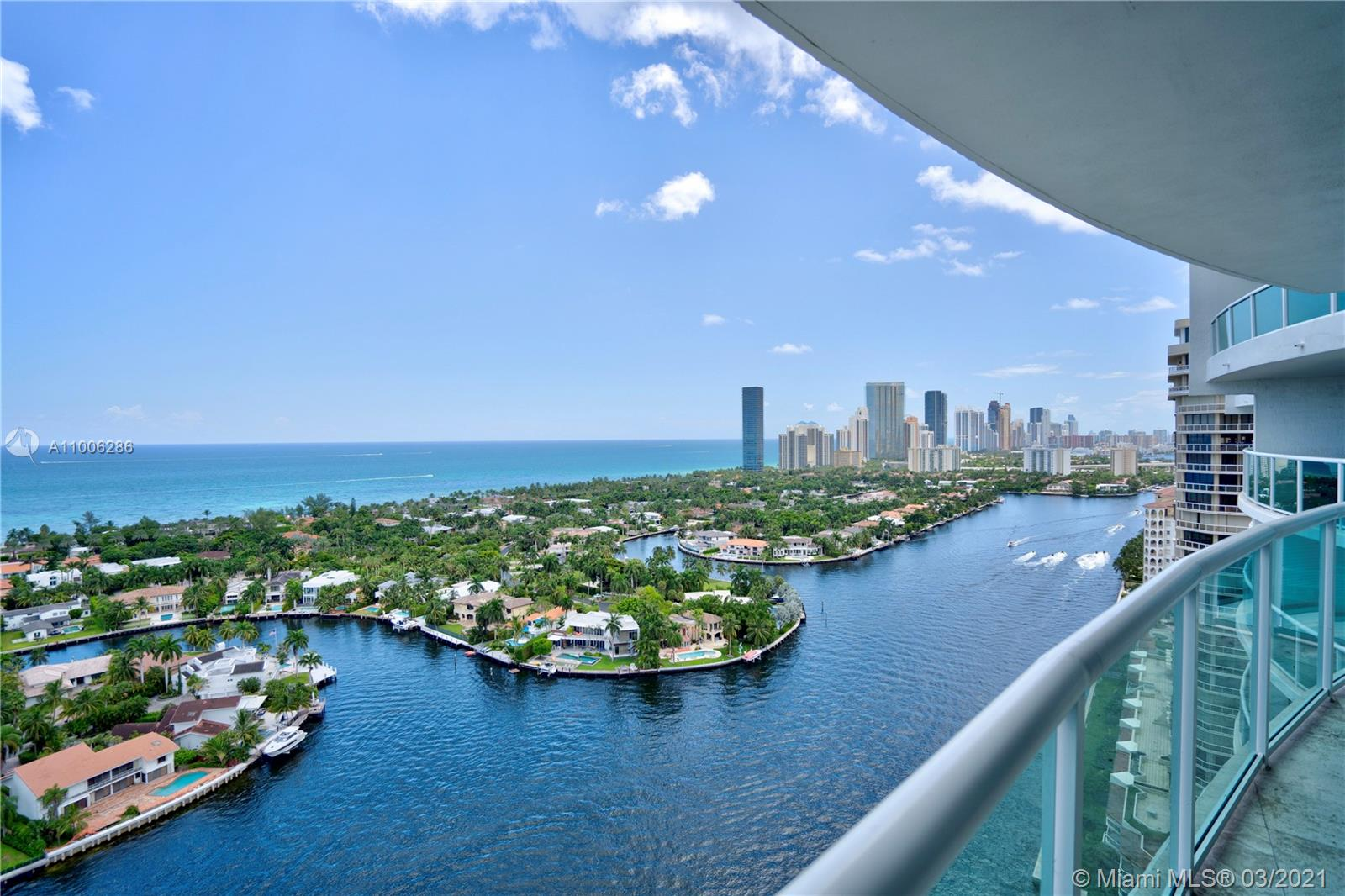 You enter the unit through a private foyer and immediately you will enjoy the most magnificent unobstructed panoramic views of the ocean and intracoastal, and the most wonderful Sunrise ! In the other side the unit, you will enjoy the geourgeos Turnberry Golf Course and Sunsets. Spacious and bright. Media room may be converted into an additional room with private bathroom. Come and see all the Lifestyle The Hamptons at Aventura has to offer including a 5 Star Spa and Sports Club, a wonderfull waterfront dining restaurant and much more.